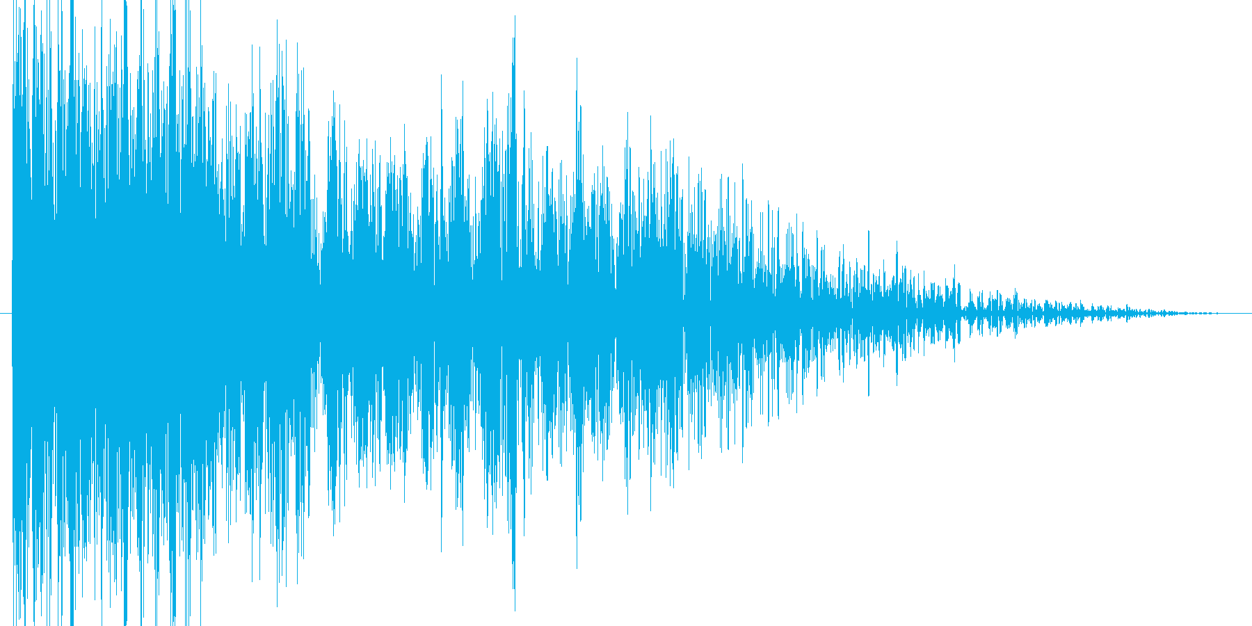 攻撃音、衝撃音、打撃音の再生済みの波形