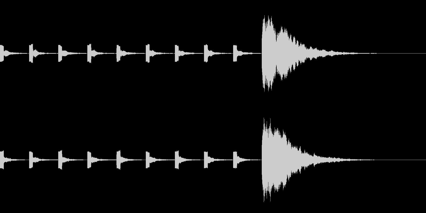 カウントダウン(プッ×9、10にホーン)の未再生の波形