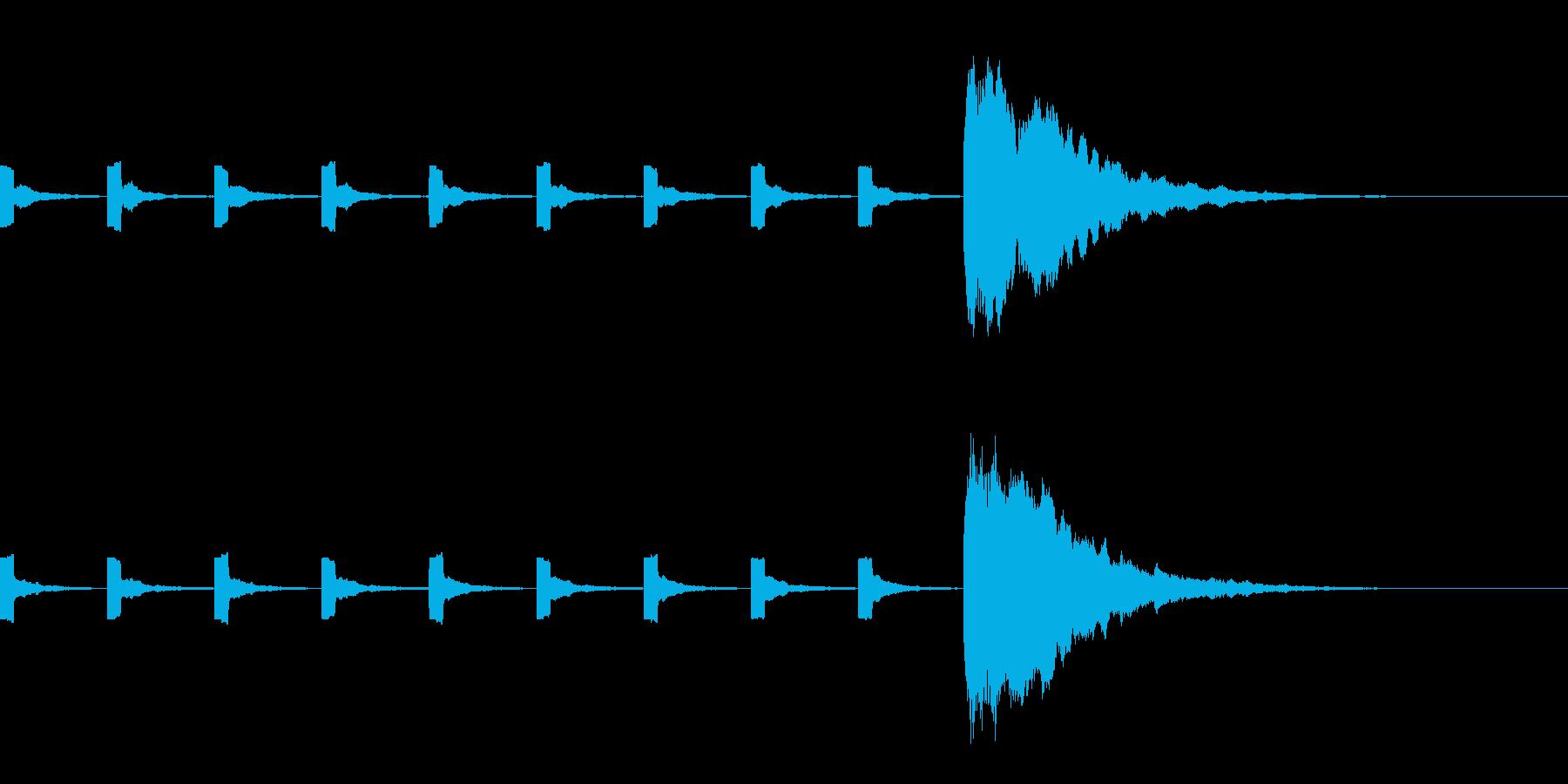 カウントダウン(プッ×9、10にホーン)の再生済みの波形