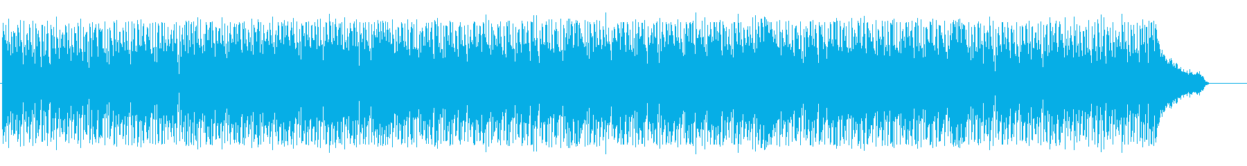 明るくリズミカルなテクノBGMの再生済みの波形