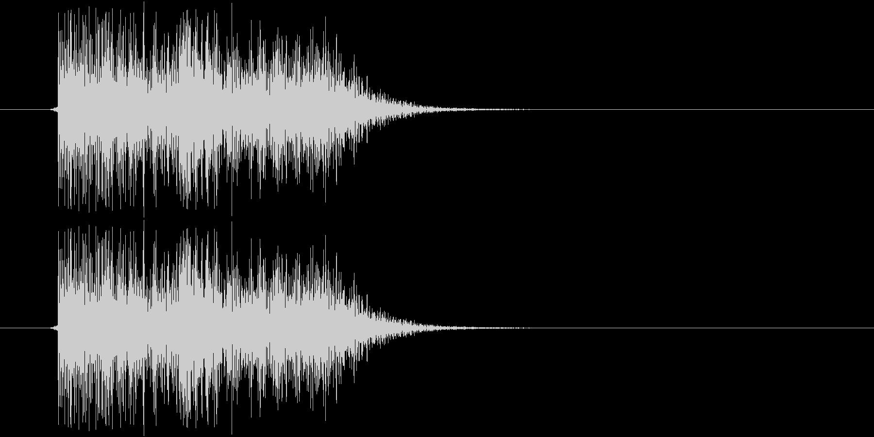 テレン(電子音)の未再生の波形