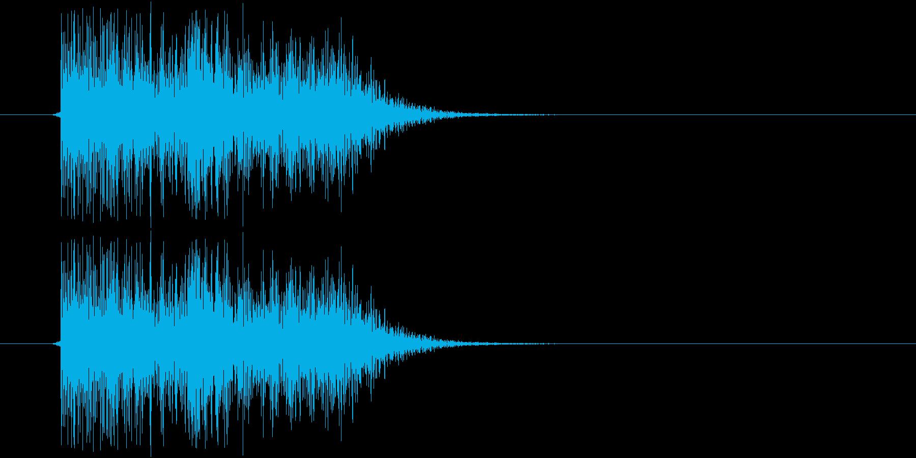 テレン(電子音)の再生済みの波形