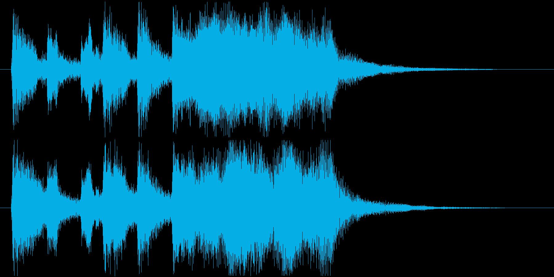5秒ちょうどのブラスファンファーレの再生済みの波形