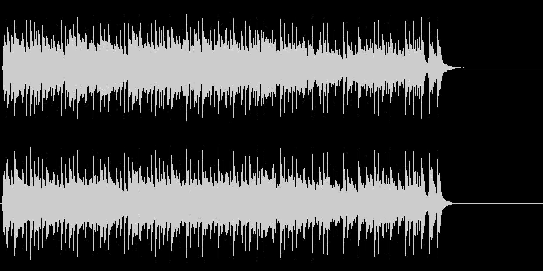ほのぼのとしたポップ(サビ~エンド)の未再生の波形