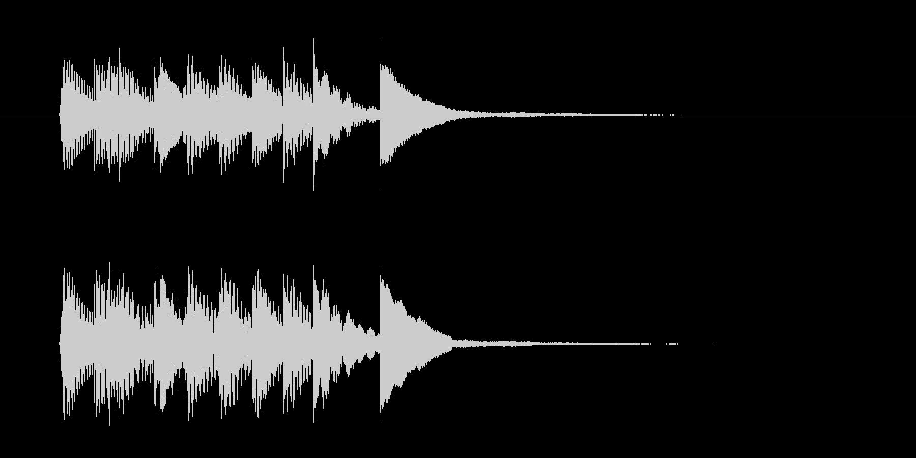 マリンバのチャイムの未再生の波形