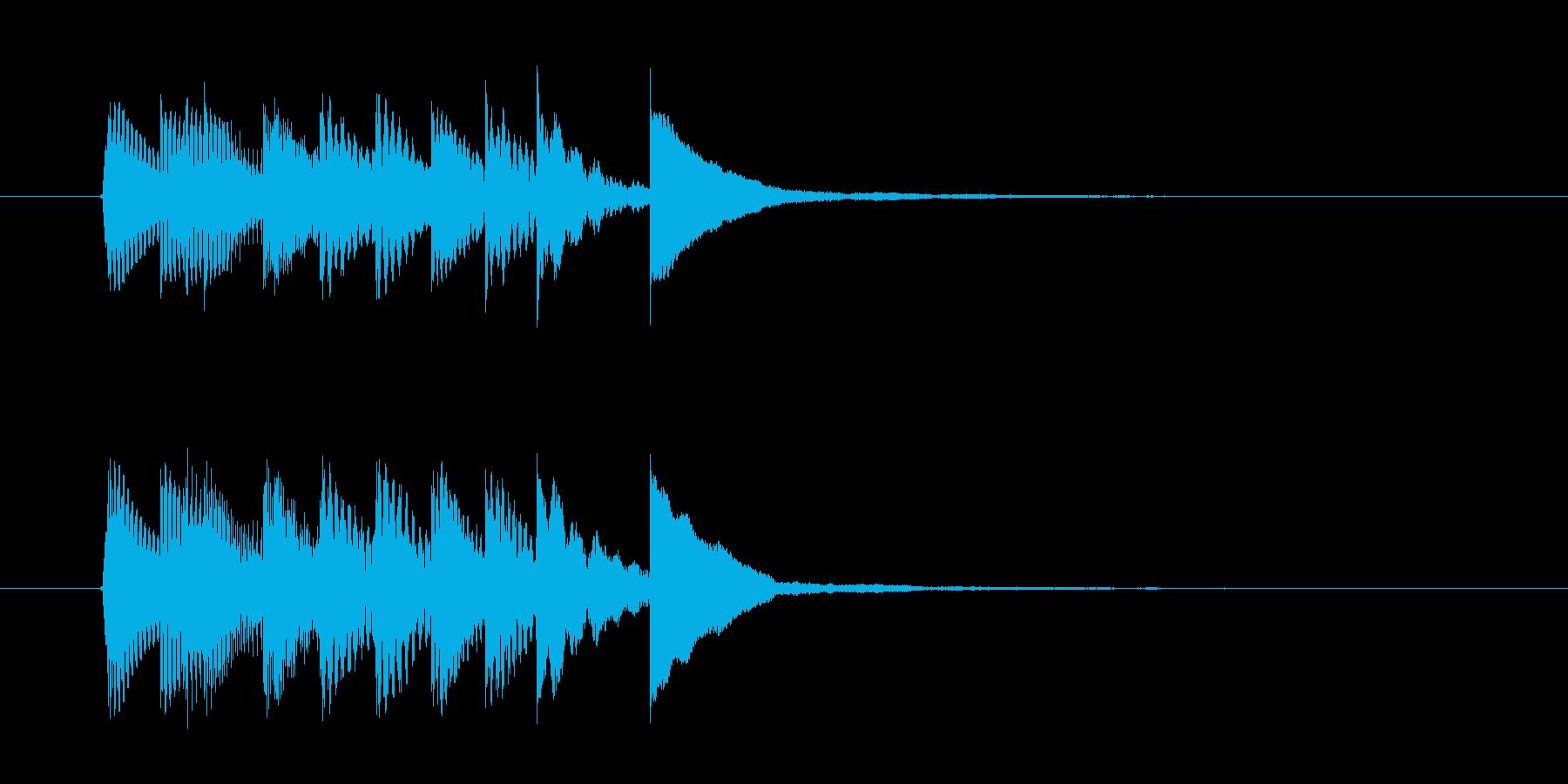 マリンバのチャイムの再生済みの波形