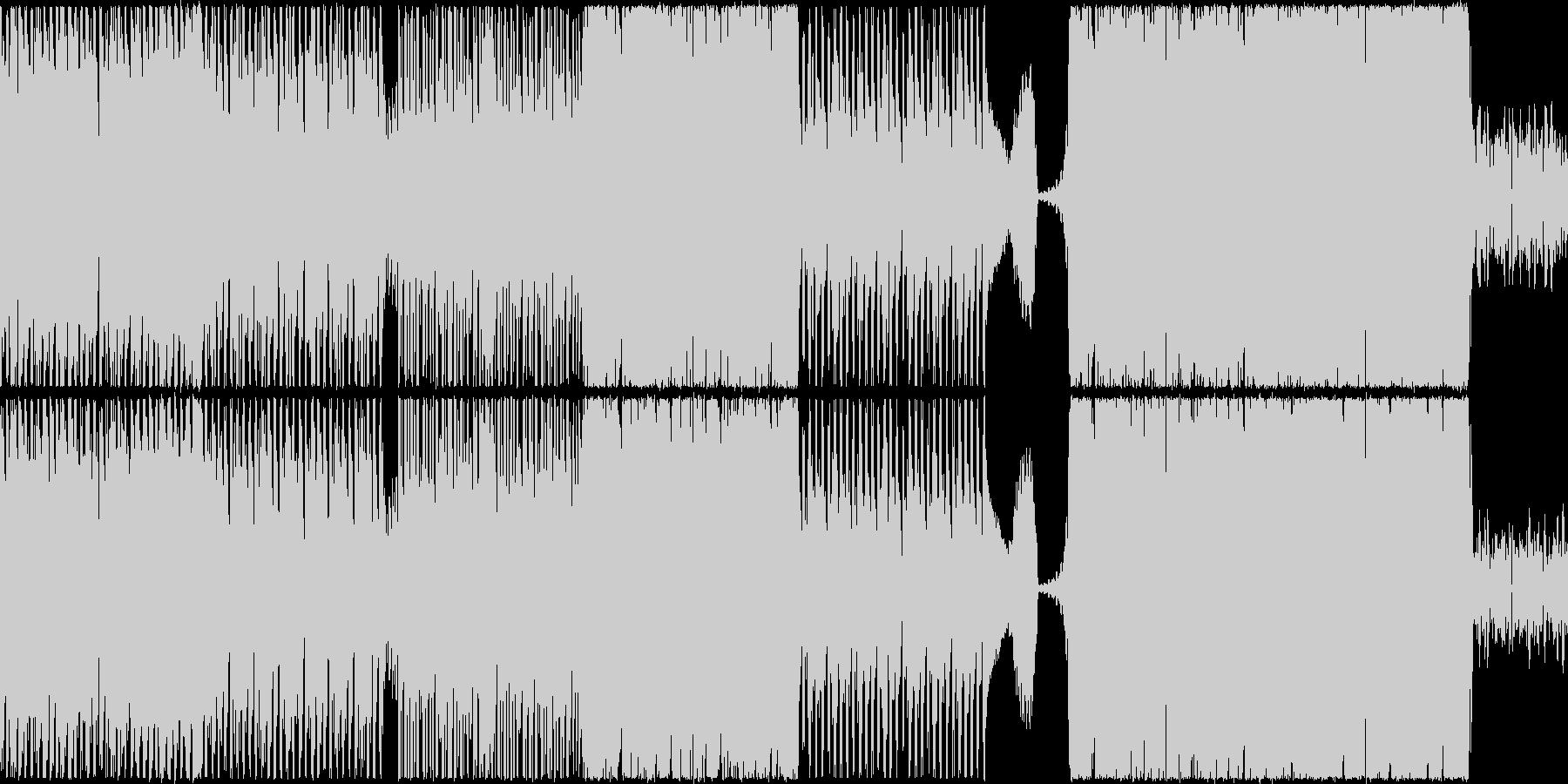 【ループ仕様】スピード感重視のバトル曲の未再生の波形