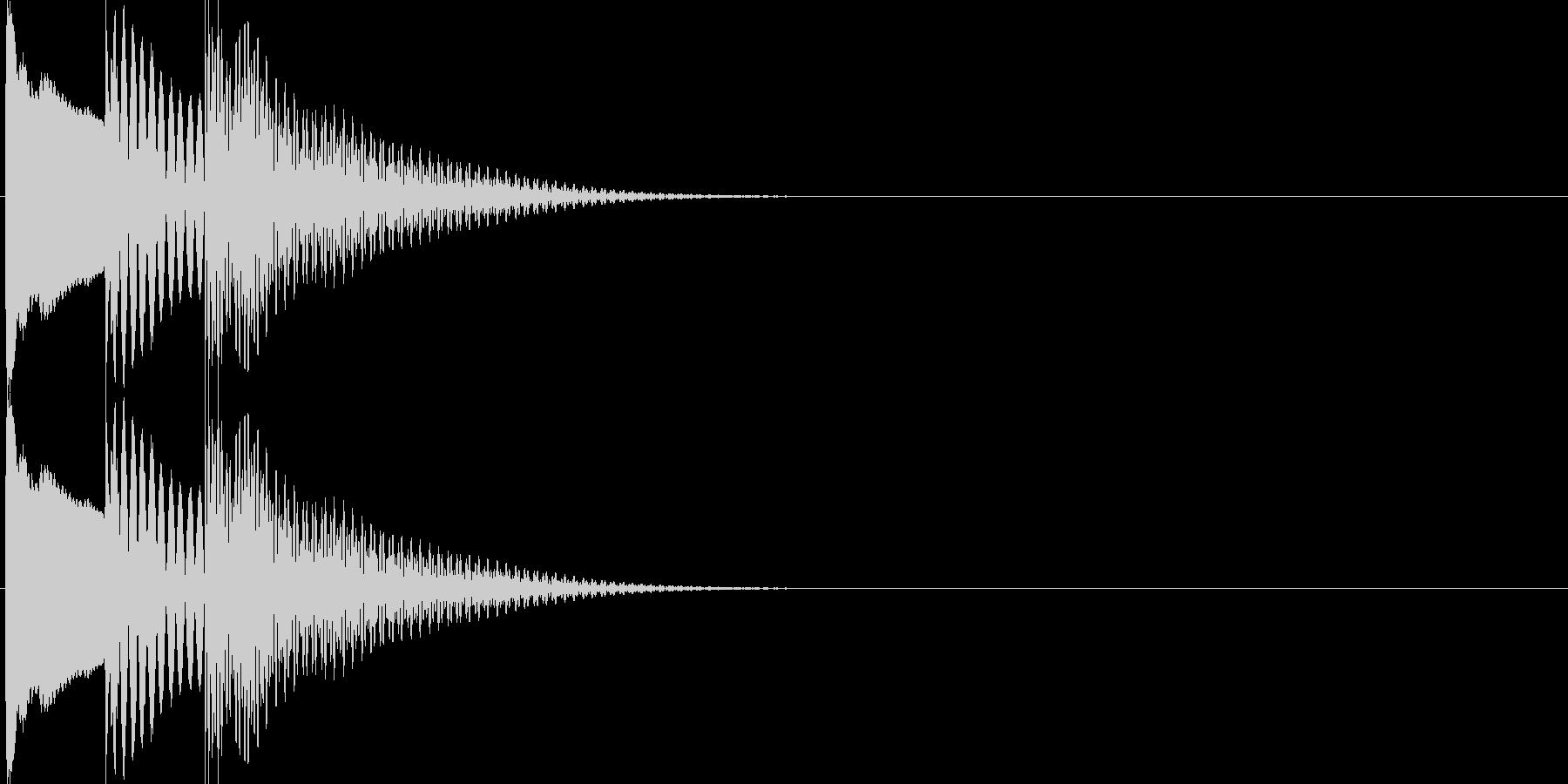 決定・OK音(木琴)の未再生の波形