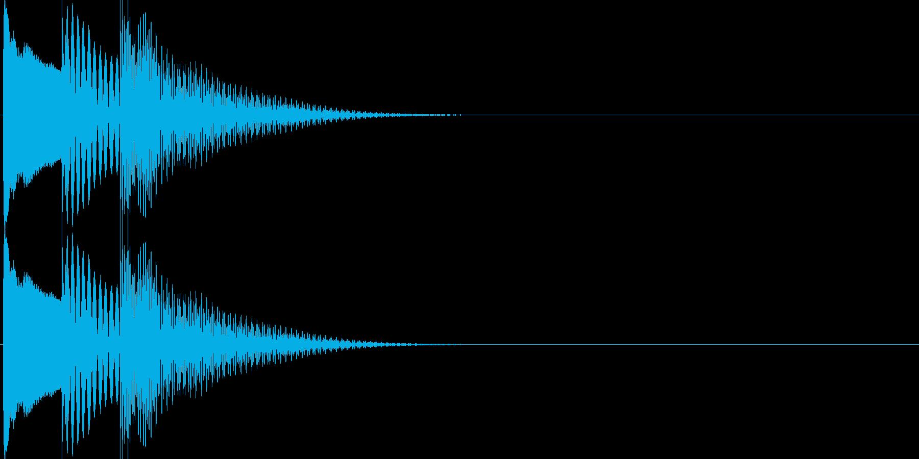 決定・OK音(木琴)の再生済みの波形