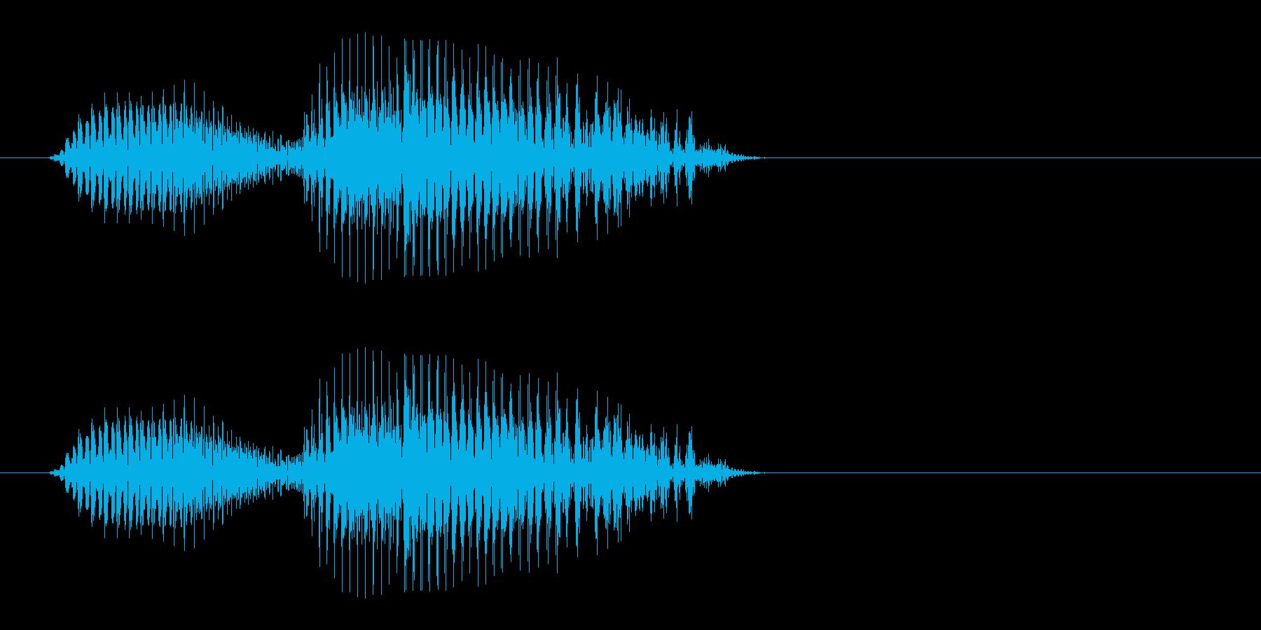 ピュウー(素早いUFOの飛行音)の再生済みの波形