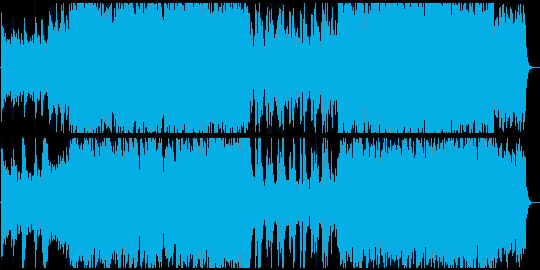 RPGのオープニングのような楽曲の再生済みの波形