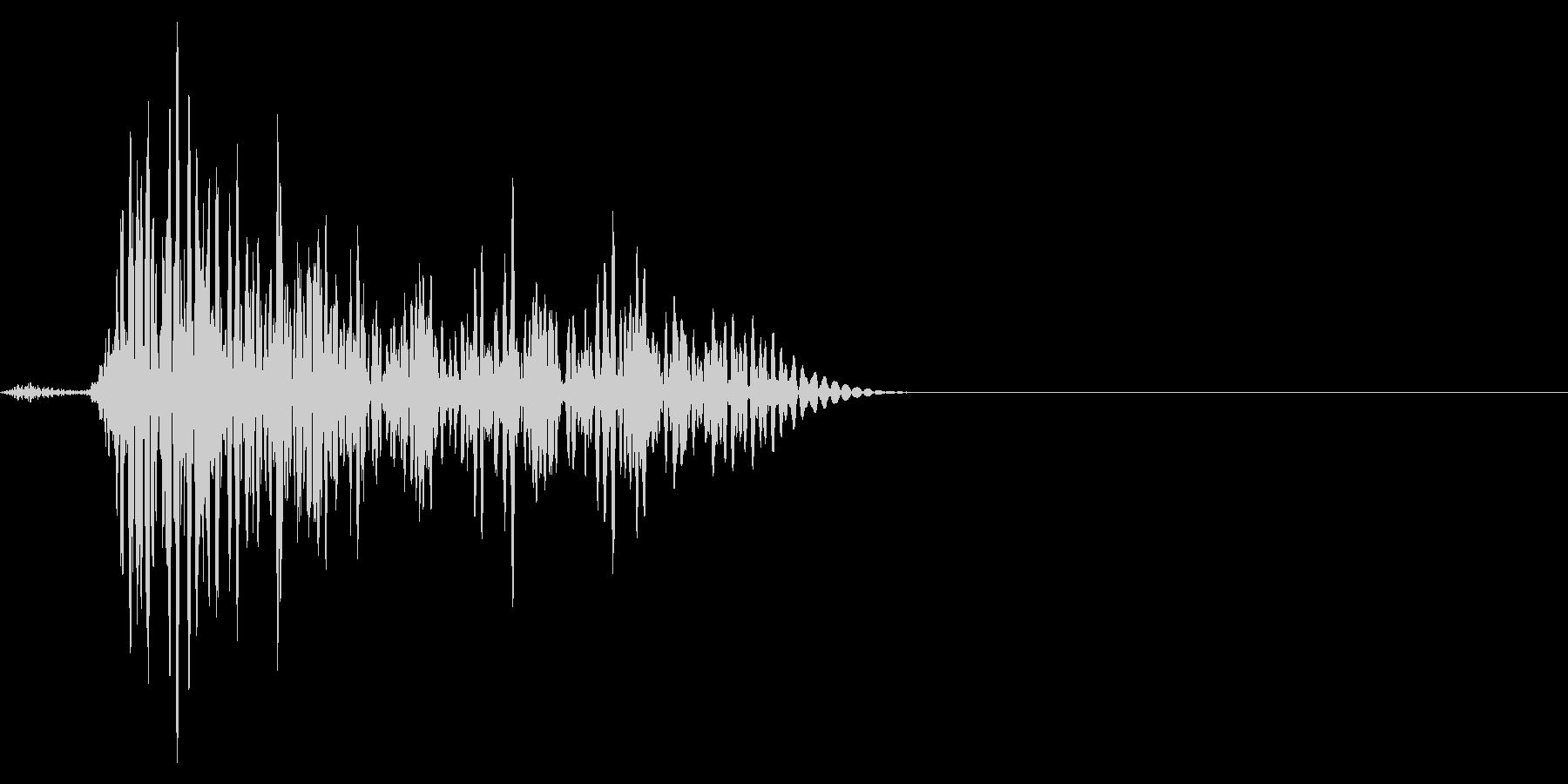 ゲーム掛け声ゾンビ1うめき2の未再生の波形