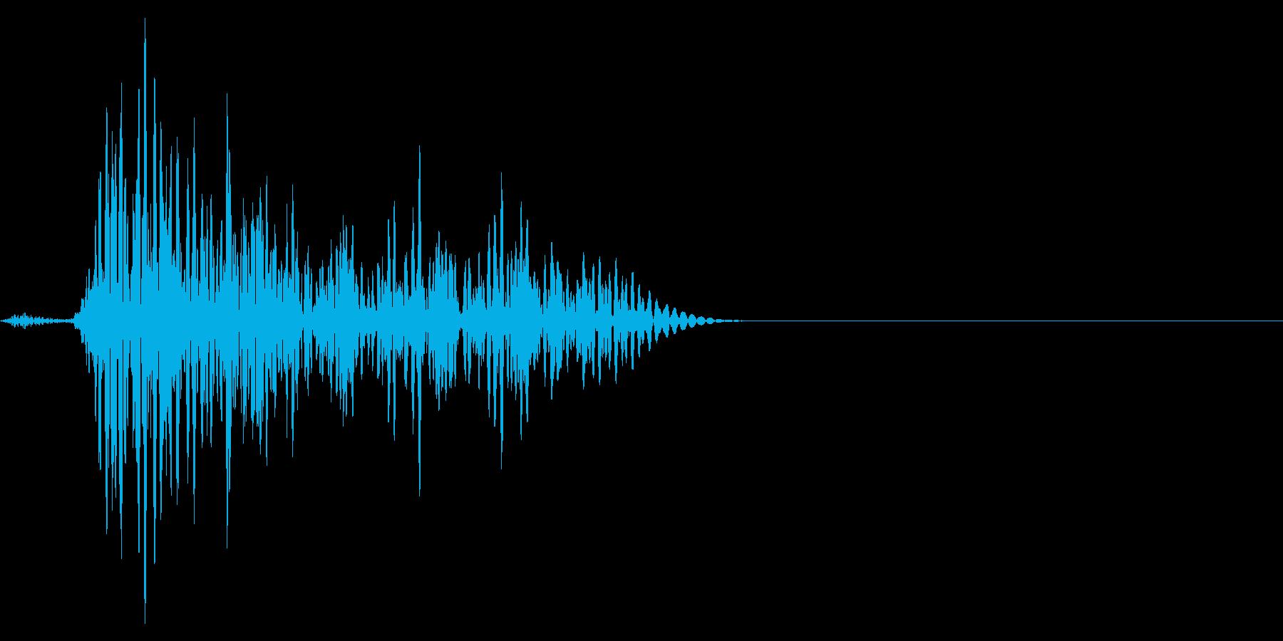 ゲーム掛け声ゾンビ1うめき2の再生済みの波形