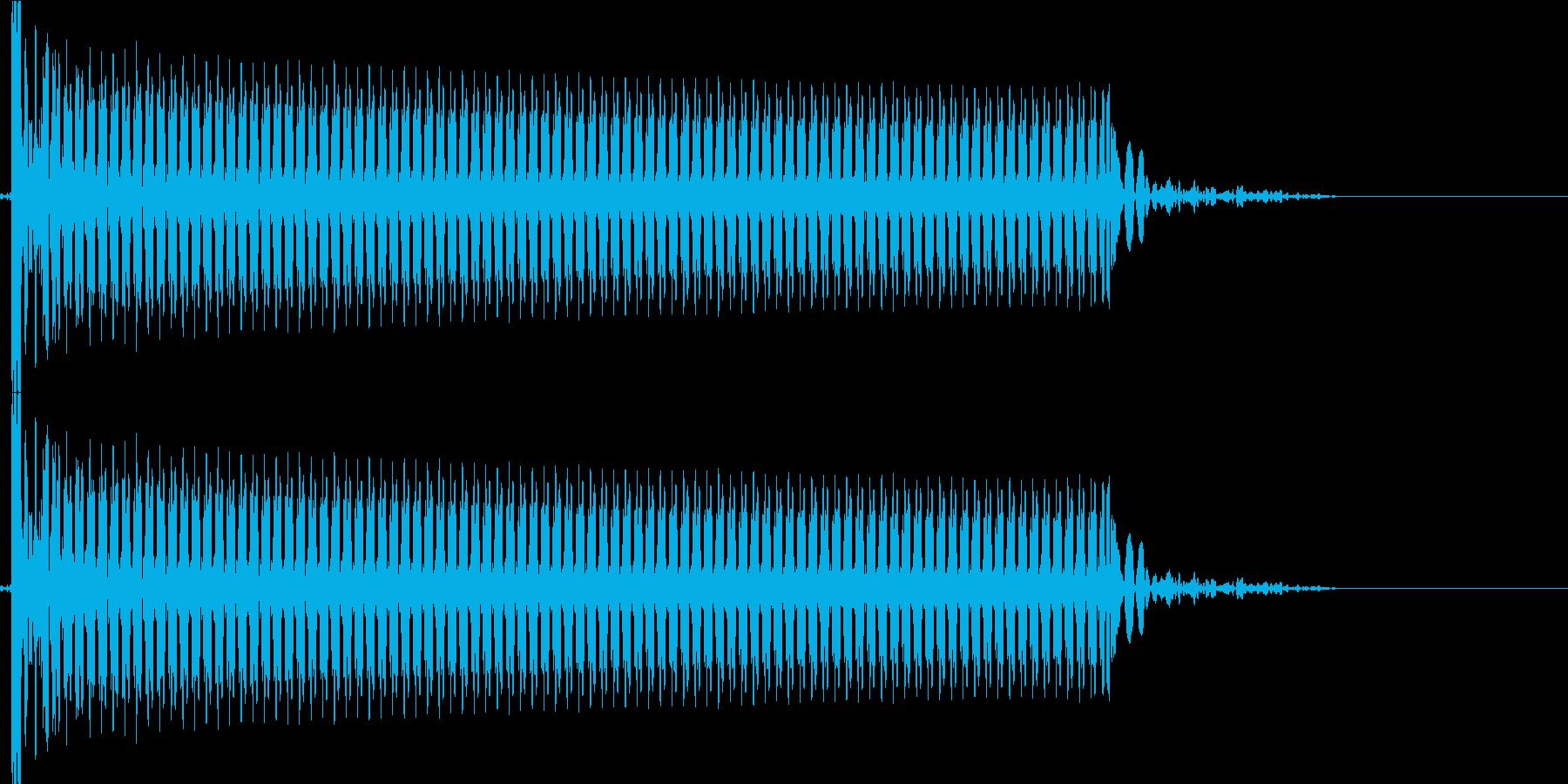 ビーーン(ショートした音)の再生済みの波形