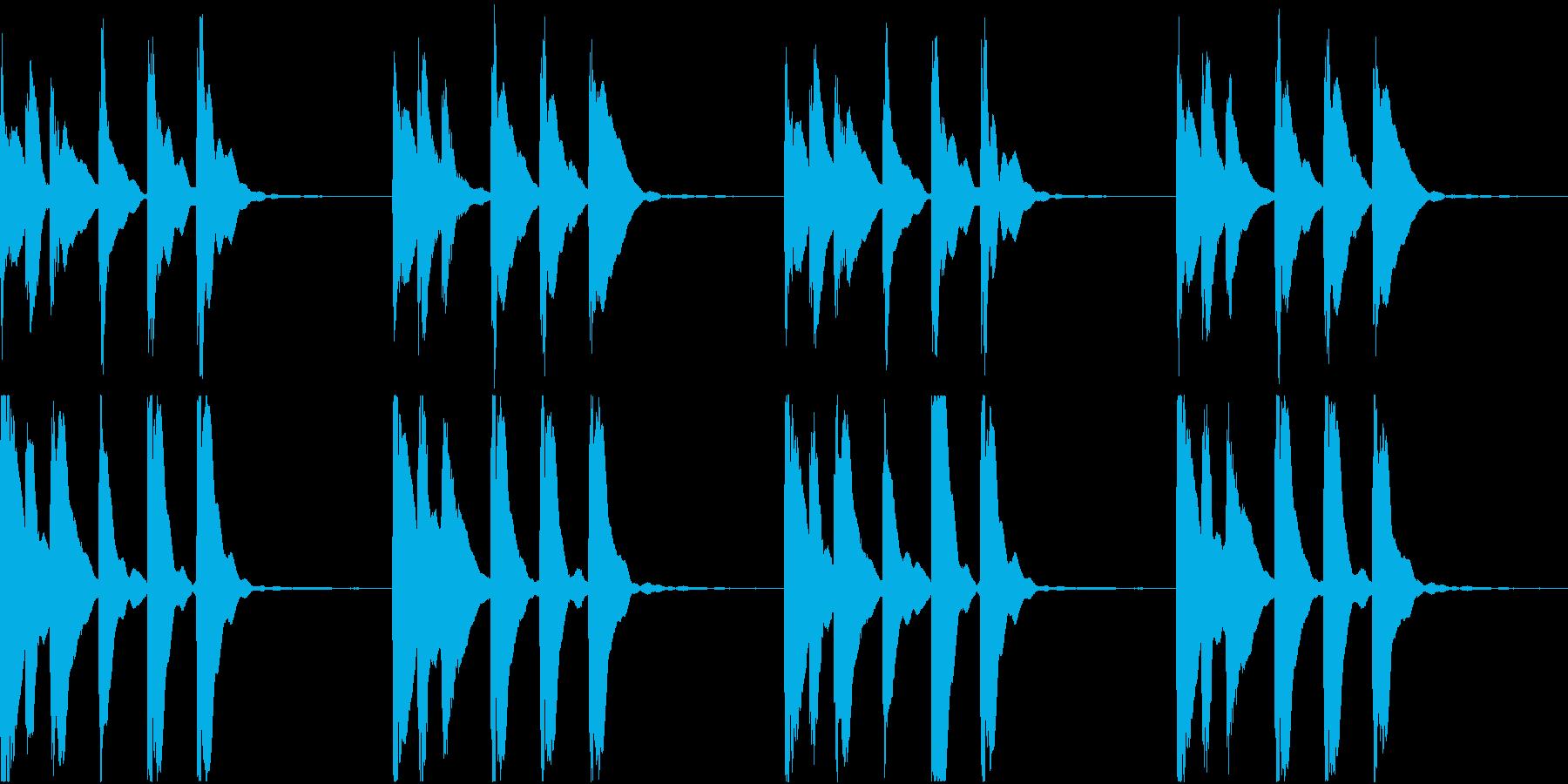 シンプル ベル 着信音 チャイム C-2の再生済みの波形