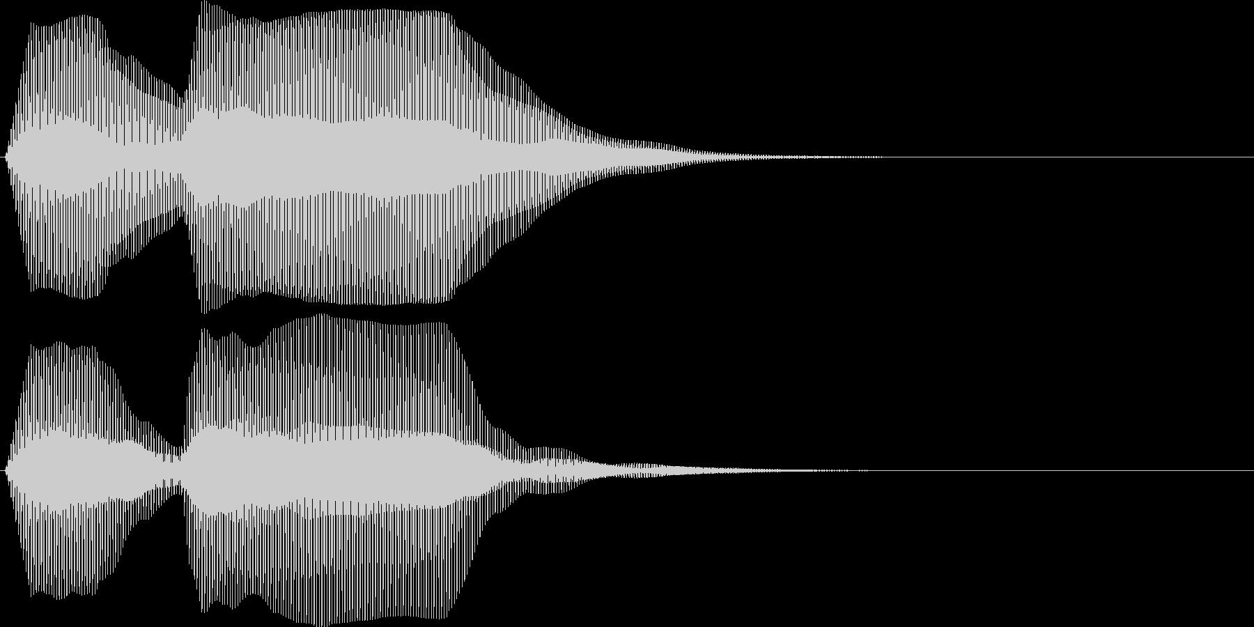 ブッブゥ。クラクション(トラック・2連)の未再生の波形