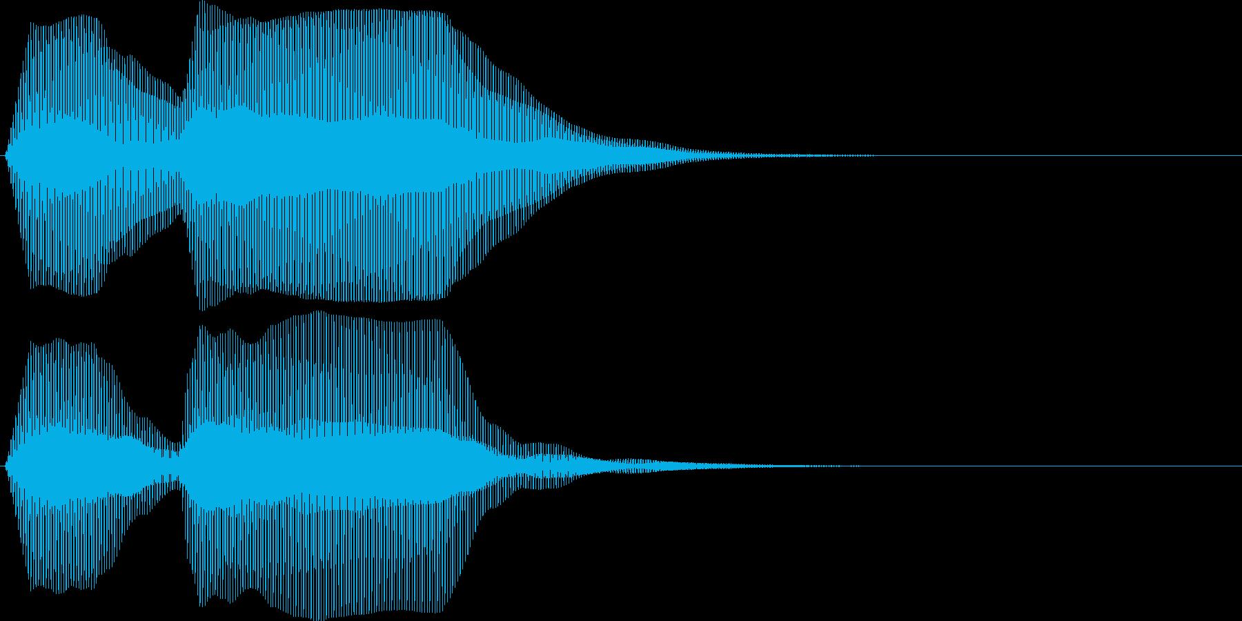 ブッブゥ。クラクション(トラック・2連)の再生済みの波形