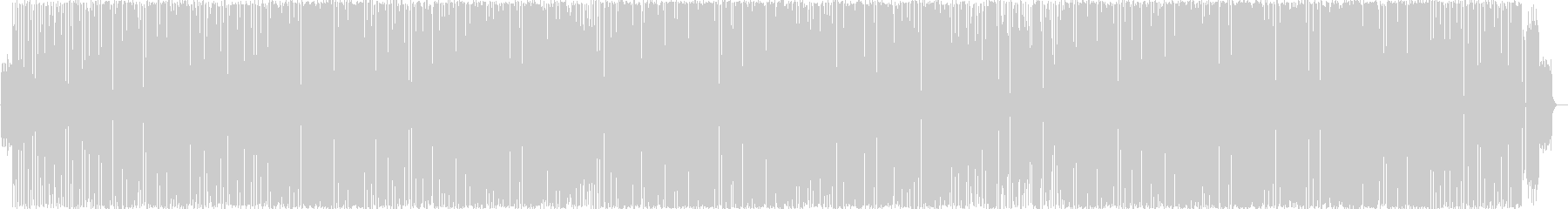 電子音と軽快なラテンのミックスの未再生の波形