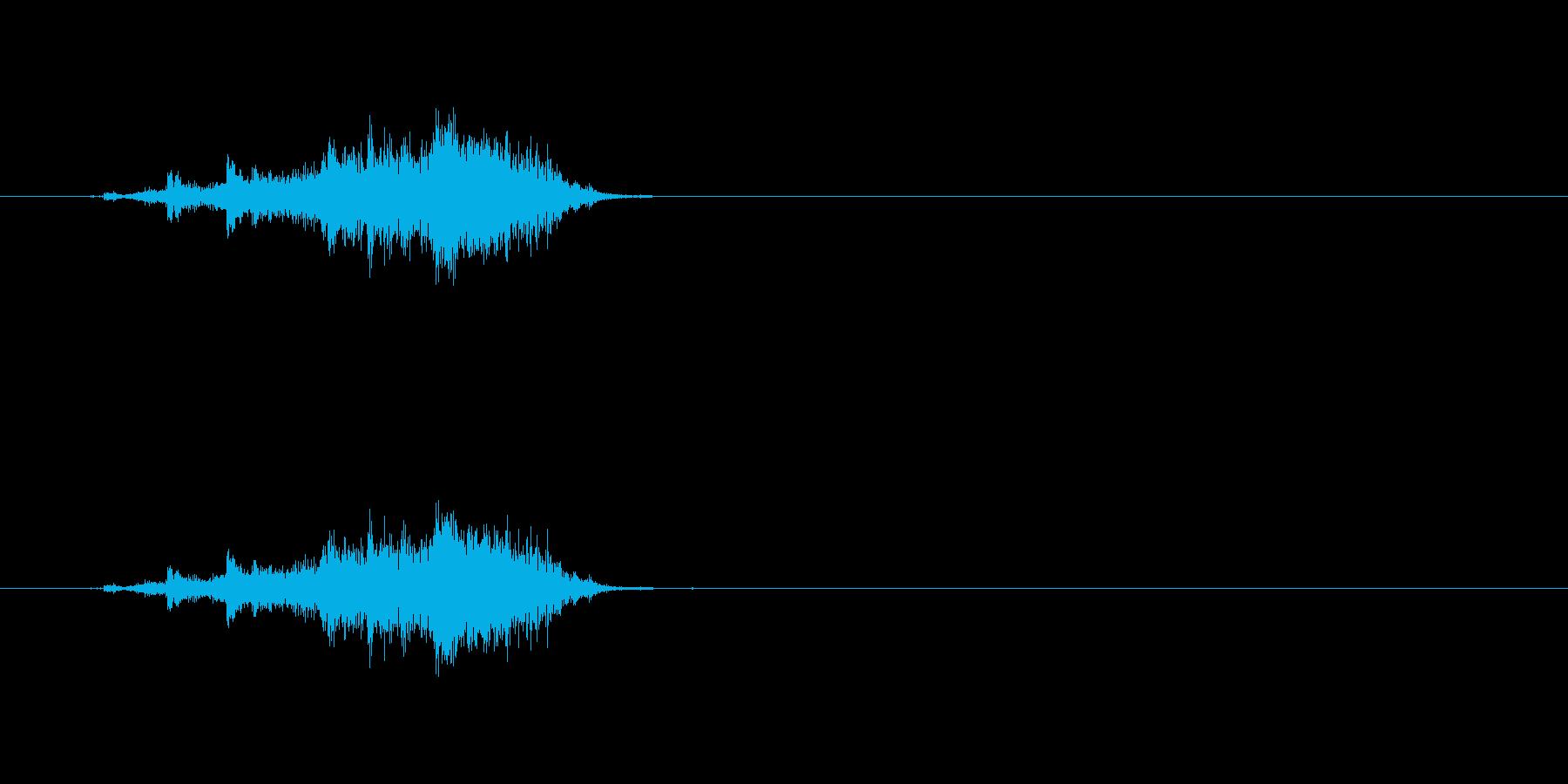 【カーテン01-3】の再生済みの波形