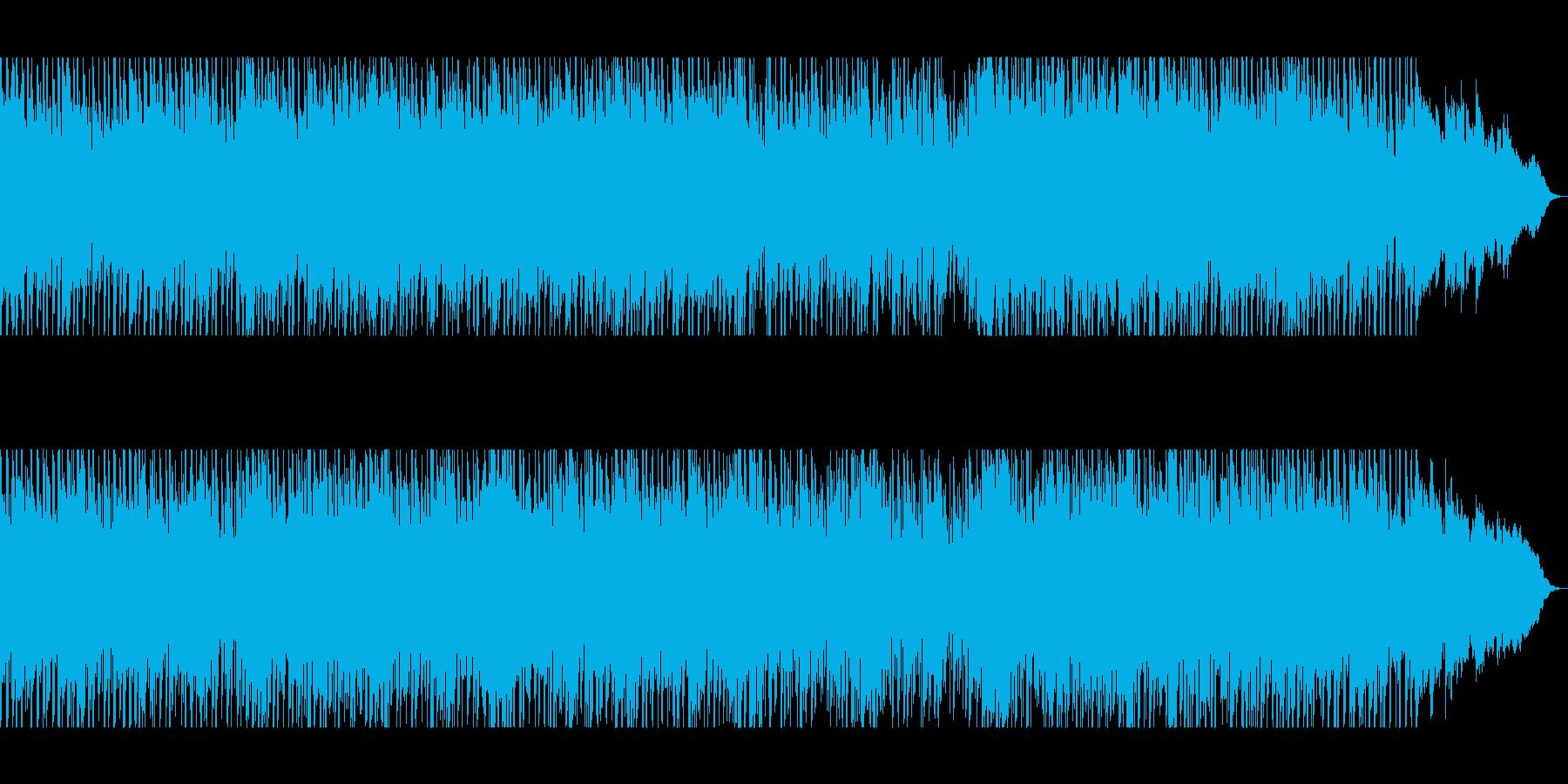 爽やかで透明感のあるシンセサウンドの再生済みの波形