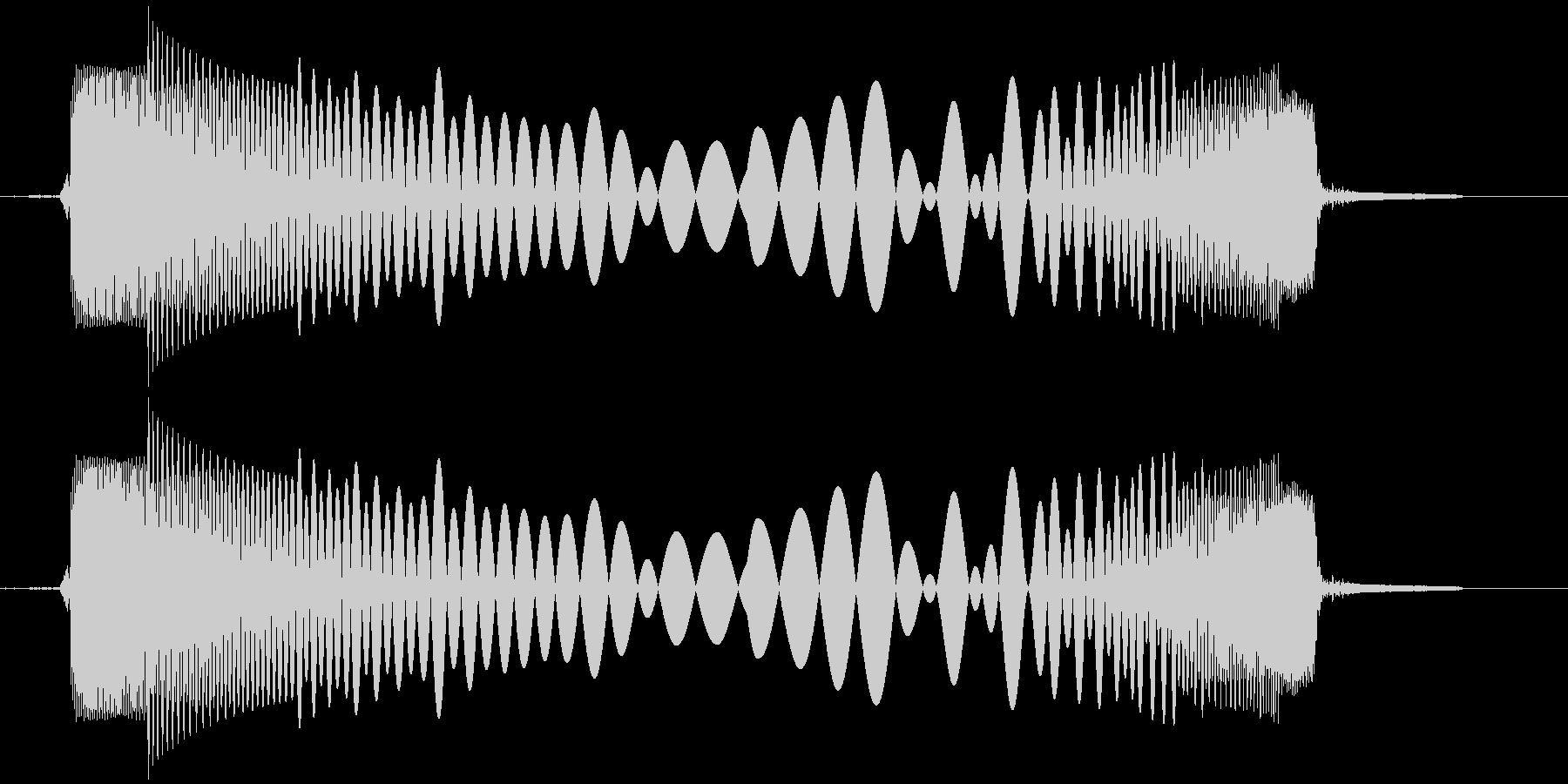 スイッチを押すの未再生の波形