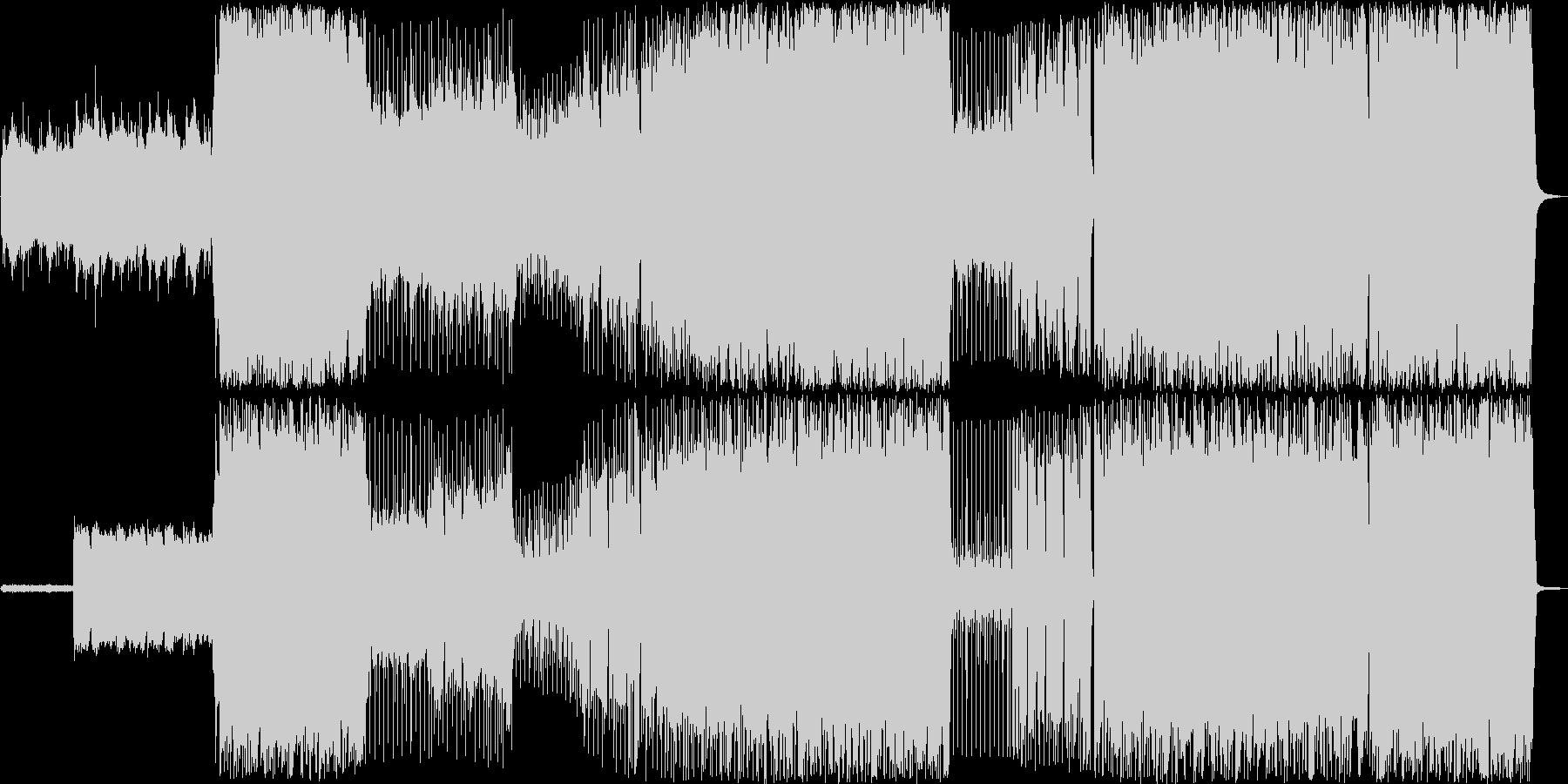 ほのぼの感のあるミディアムテンポの未再生の波形