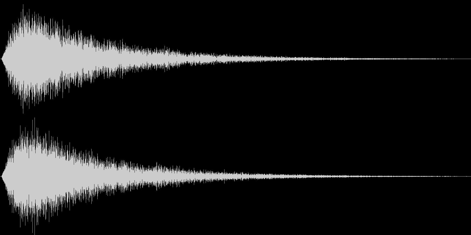 サウンドロゴ(華やか、気品)の未再生の波形