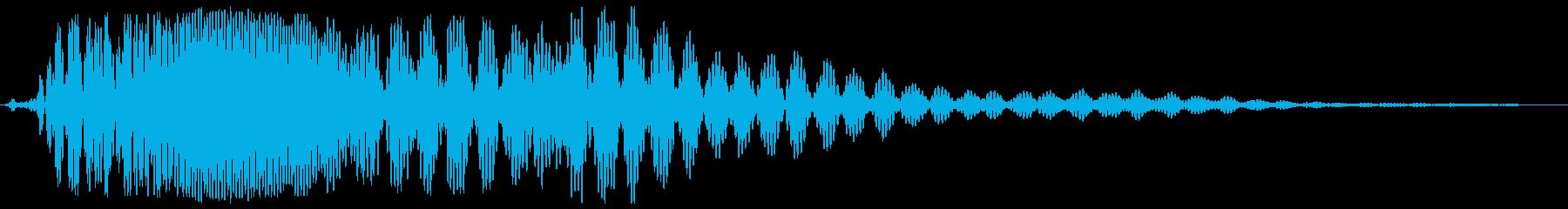 モンスターの声(ゴーワーァ)の再生済みの波形