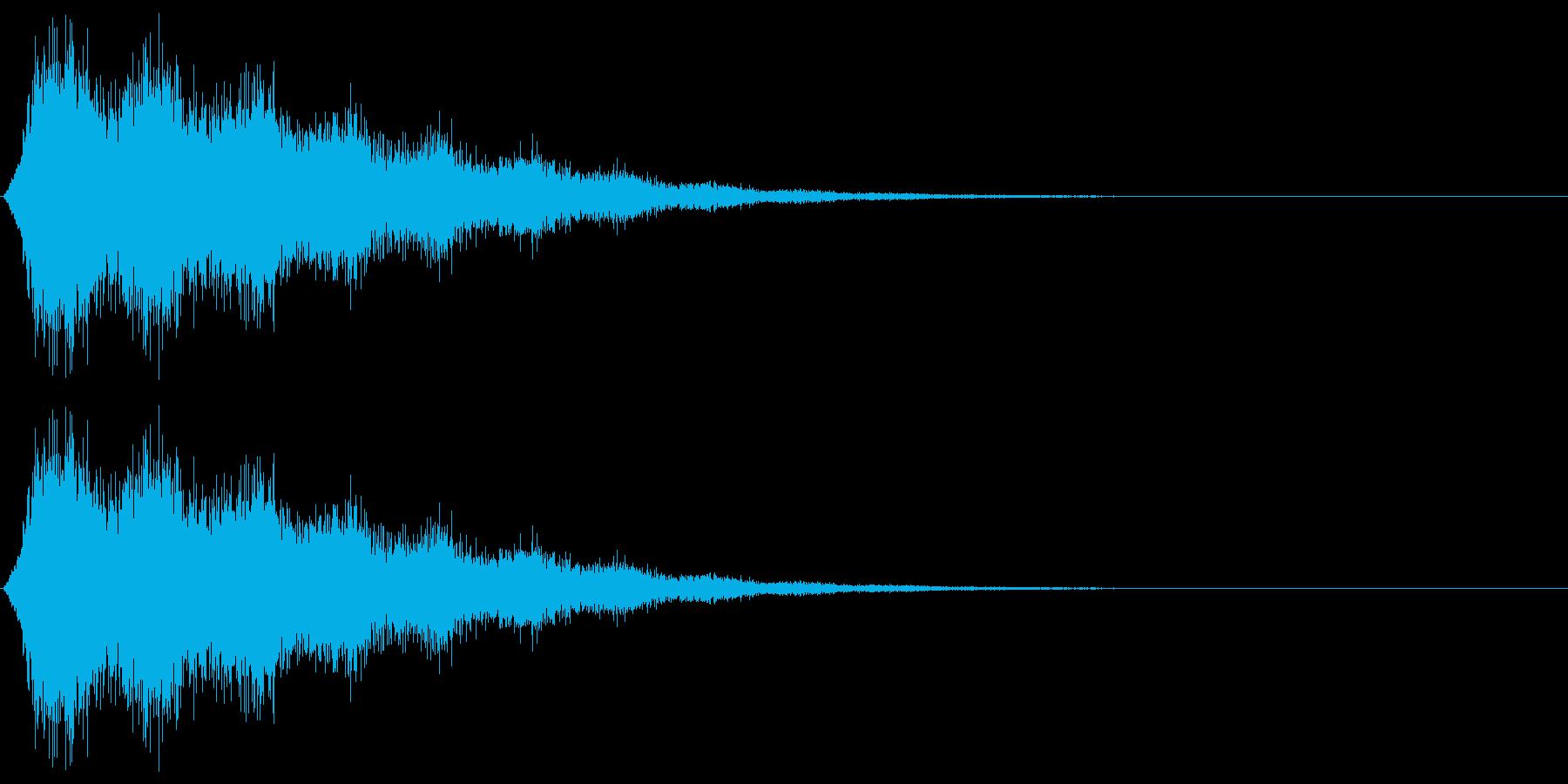 ゲームで使われる事を想定した消滅をイメ…の再生済みの波形