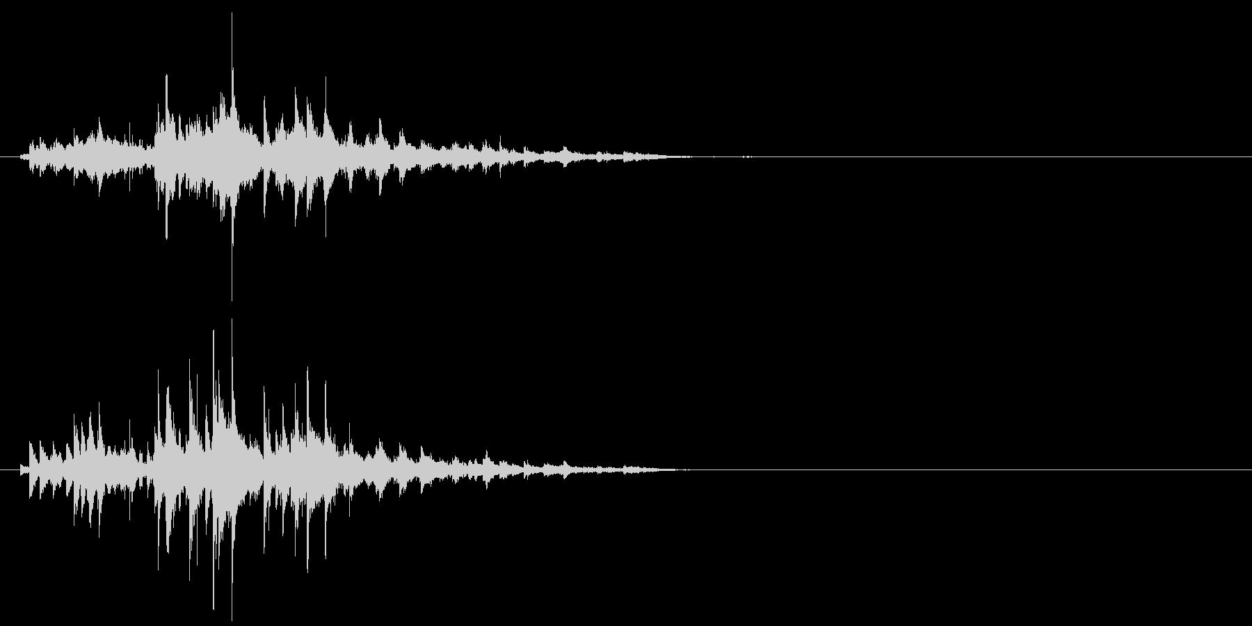キラキラしたウィンドチャイムの音の未再生の波形