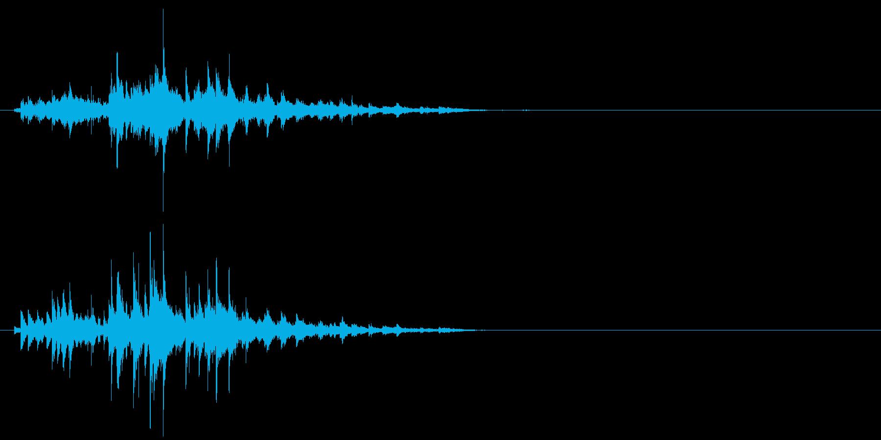 キラキラしたウィンドチャイムの音の再生済みの波形