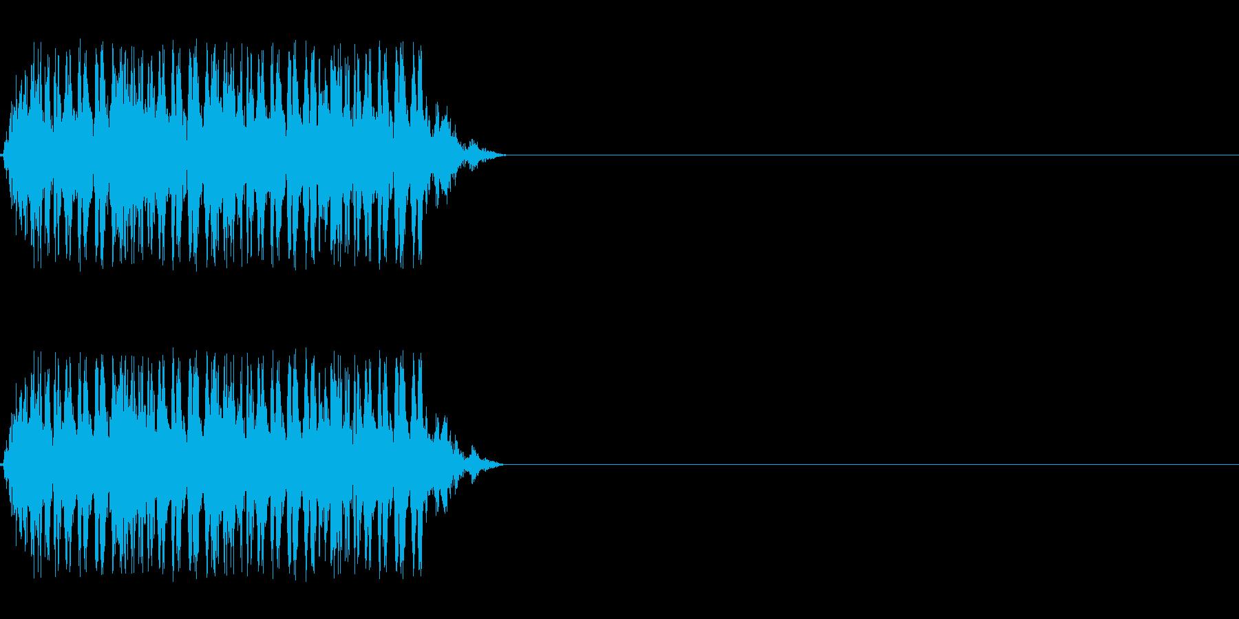 【レーザー01-4】の再生済みの波形