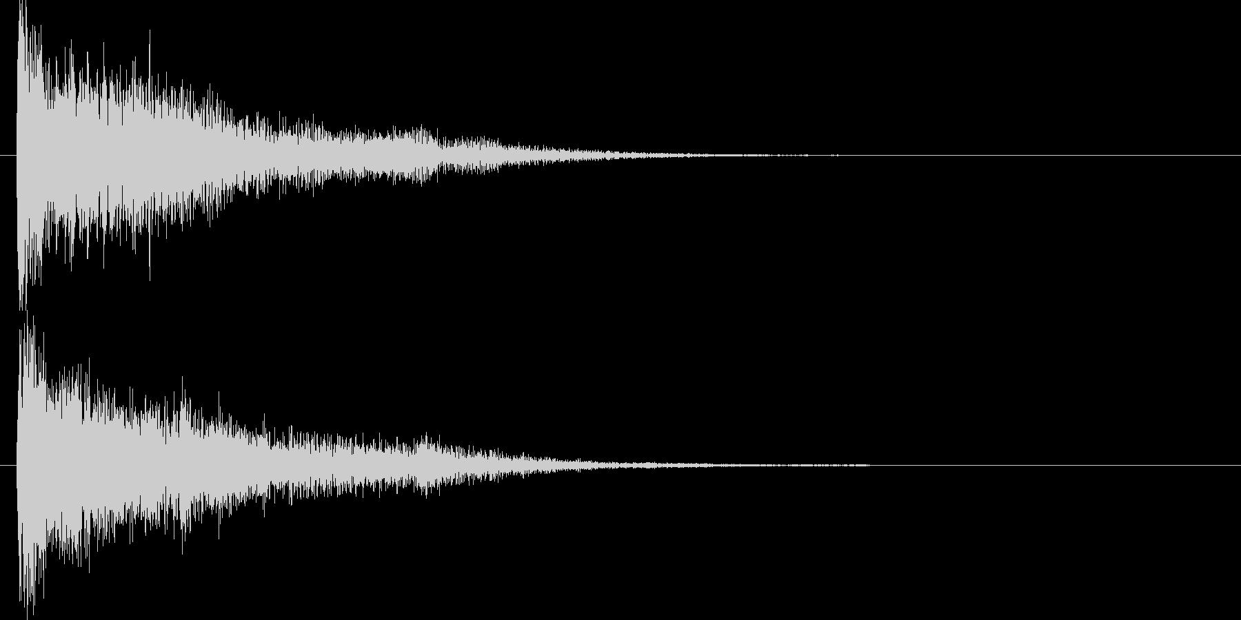 和風クリックジングルアイキャッチの未再生の波形