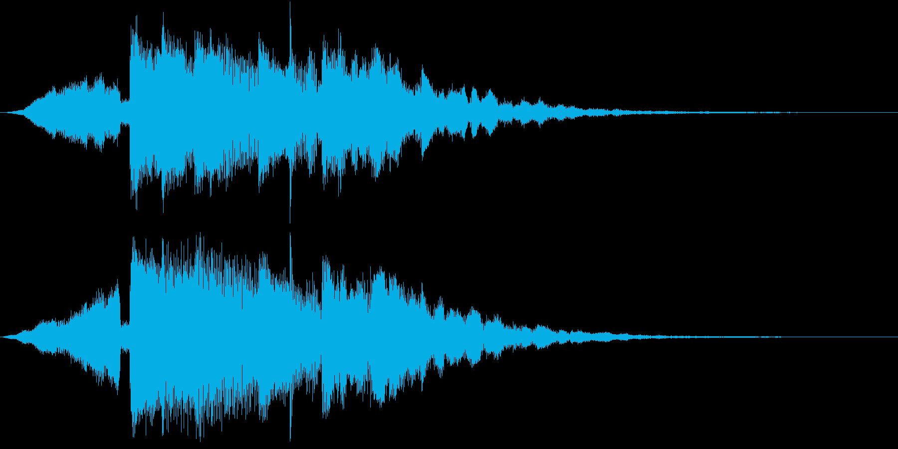 サウンドロゴ、ゲーム、アプリ起動音などにの再生済みの波形