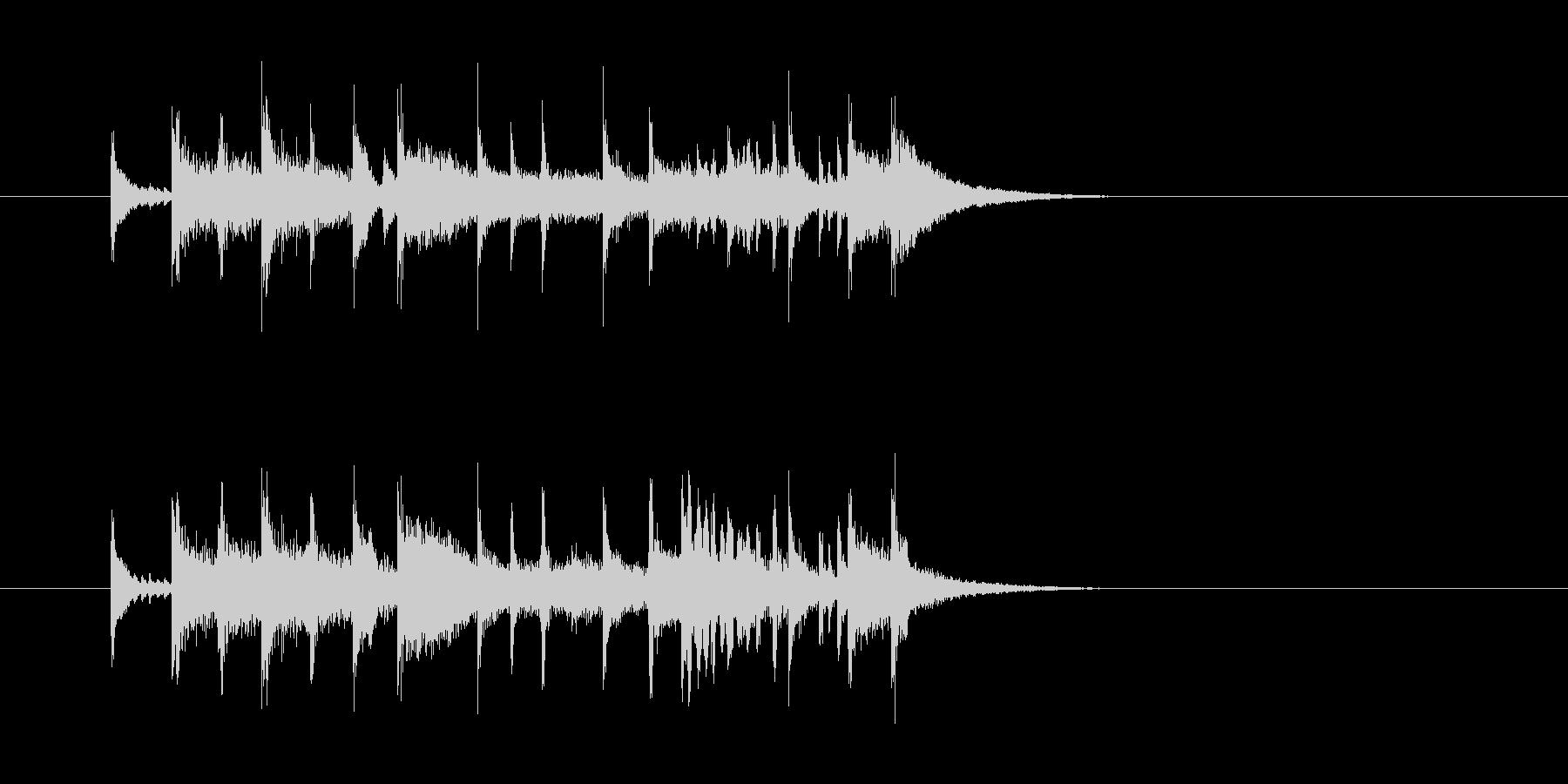 ジングル(エンディング向き)の未再生の波形