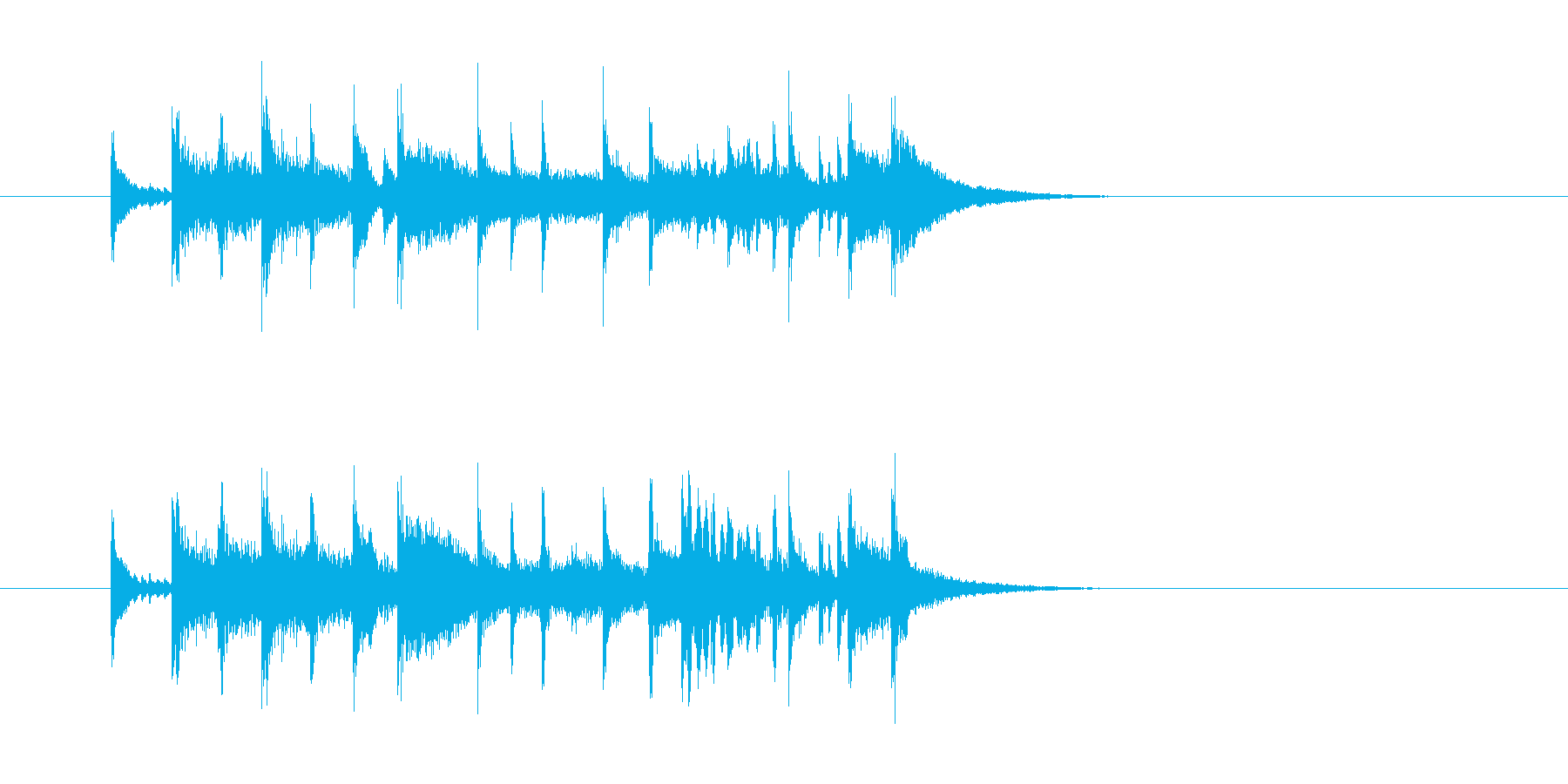 ジングル(エンディング向き)の再生済みの波形