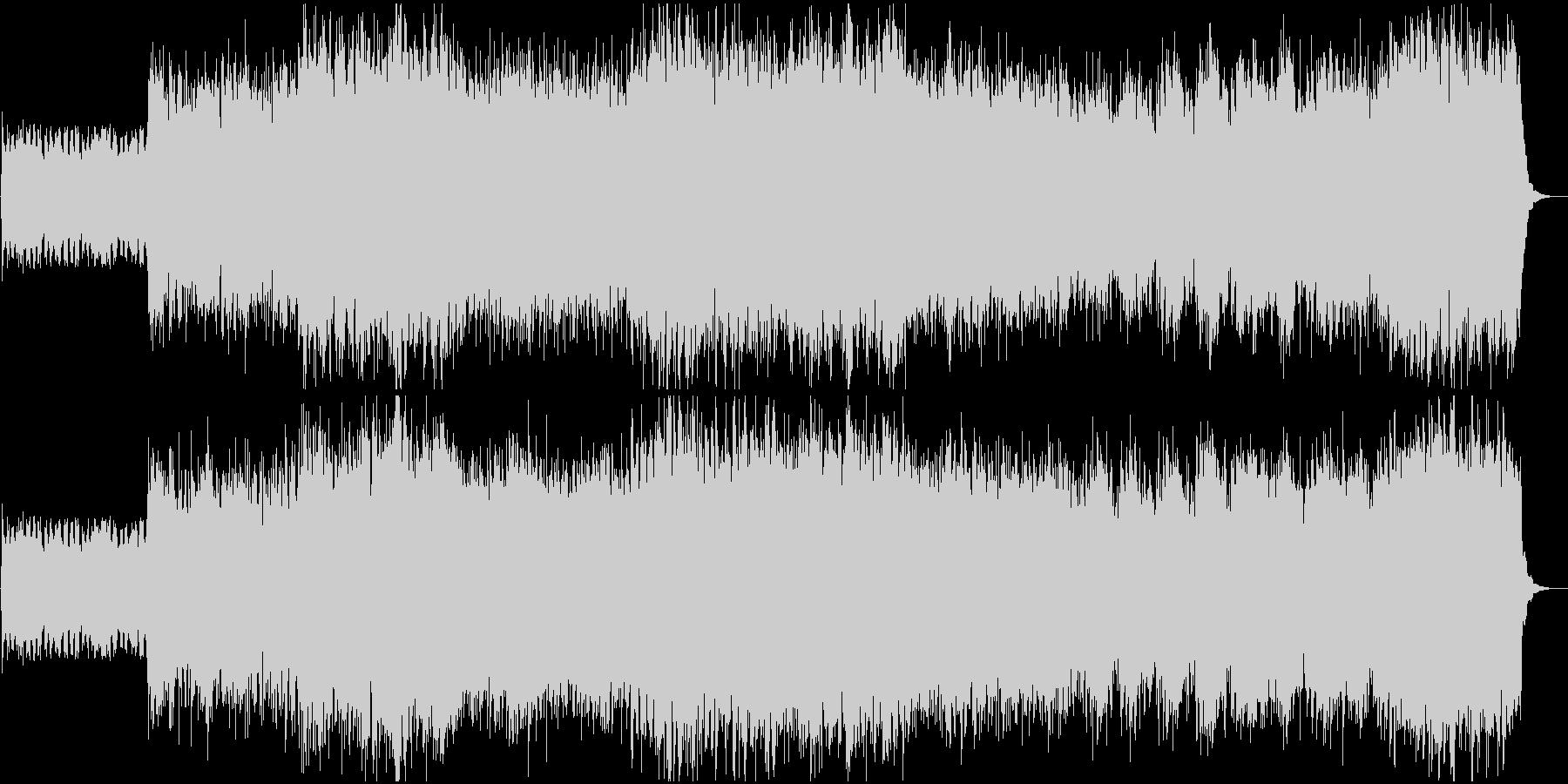 疾走感のあるエレキギターが特徴のロックの未再生の波形