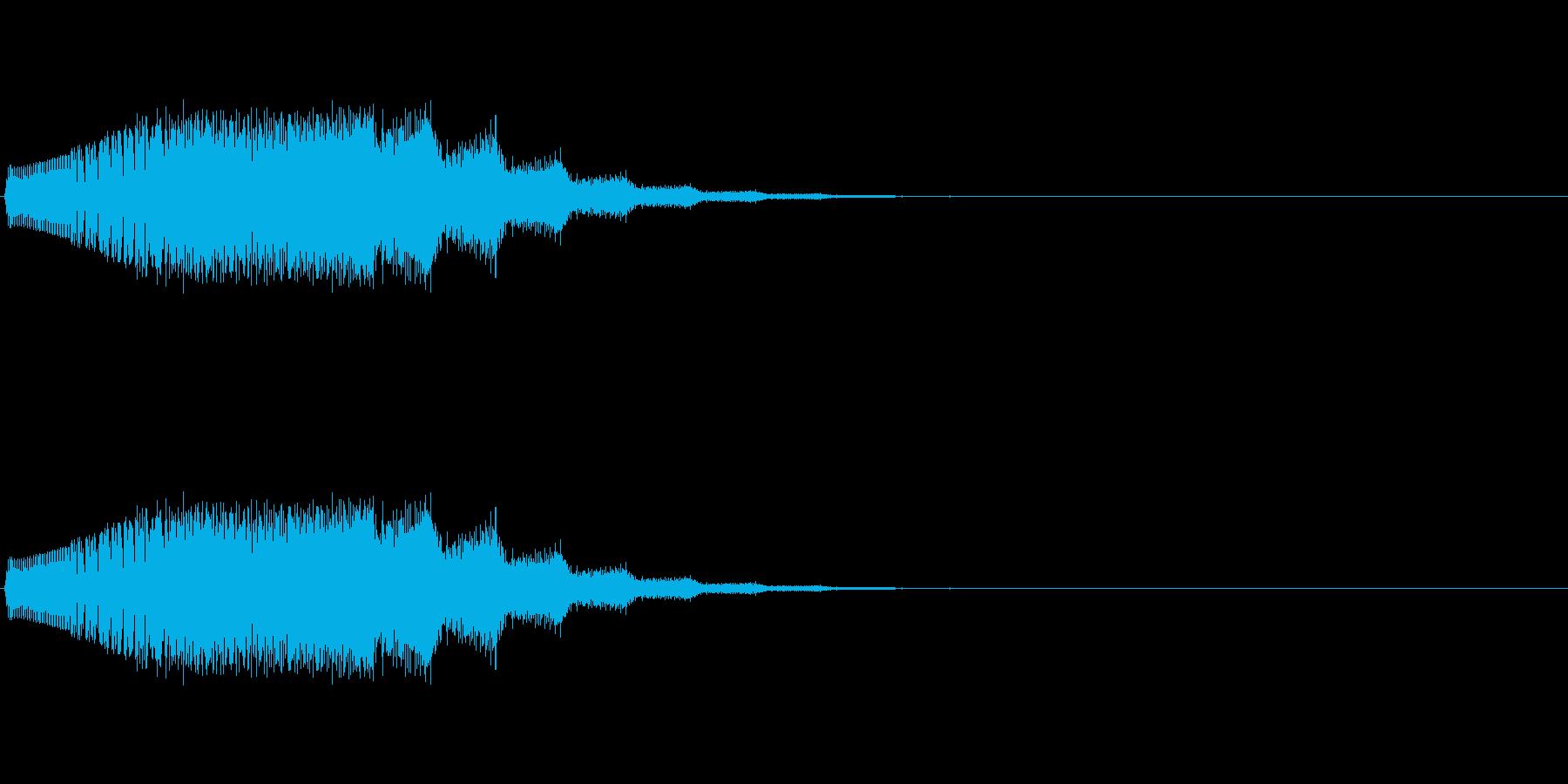 「ジャンプ(プワー)→着地(ギュン)の再生済みの波形