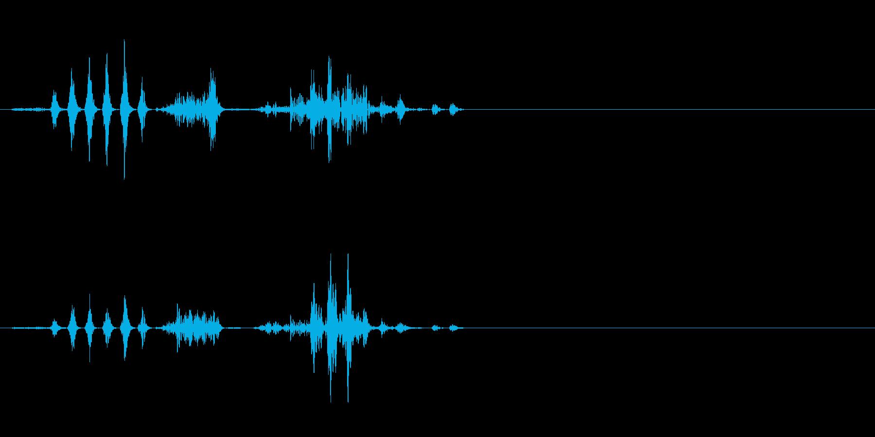 エイリアンの発声 2の再生済みの波形