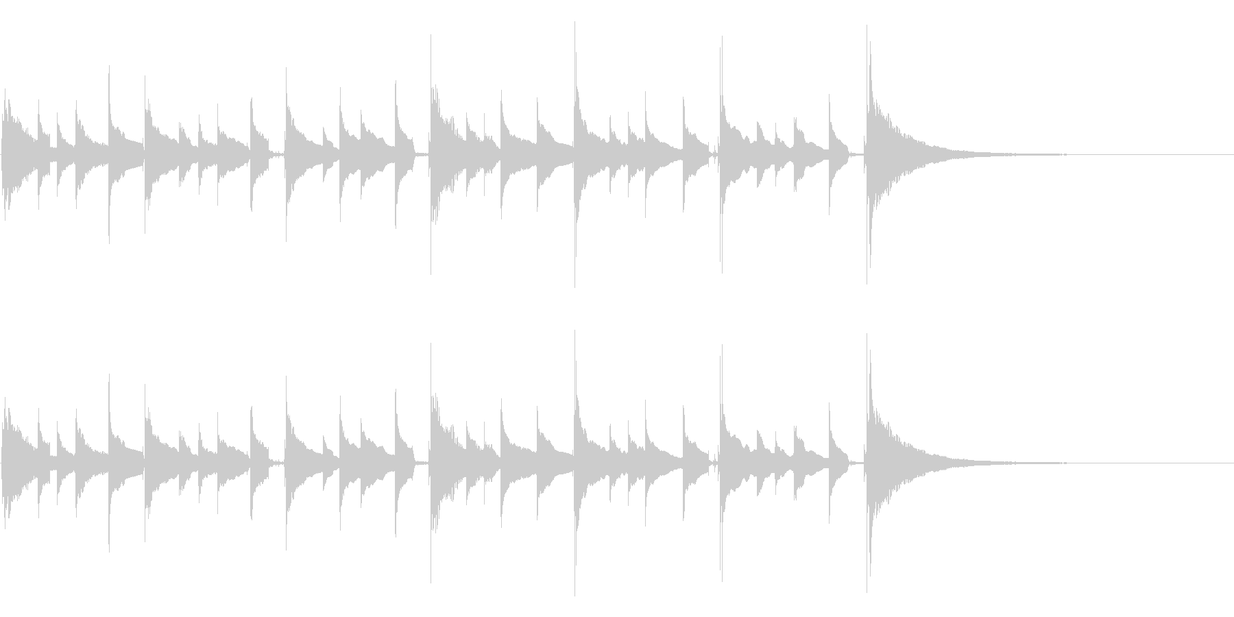 場面展開に最適、短い生ウクレレアルペジオの未再生の波形
