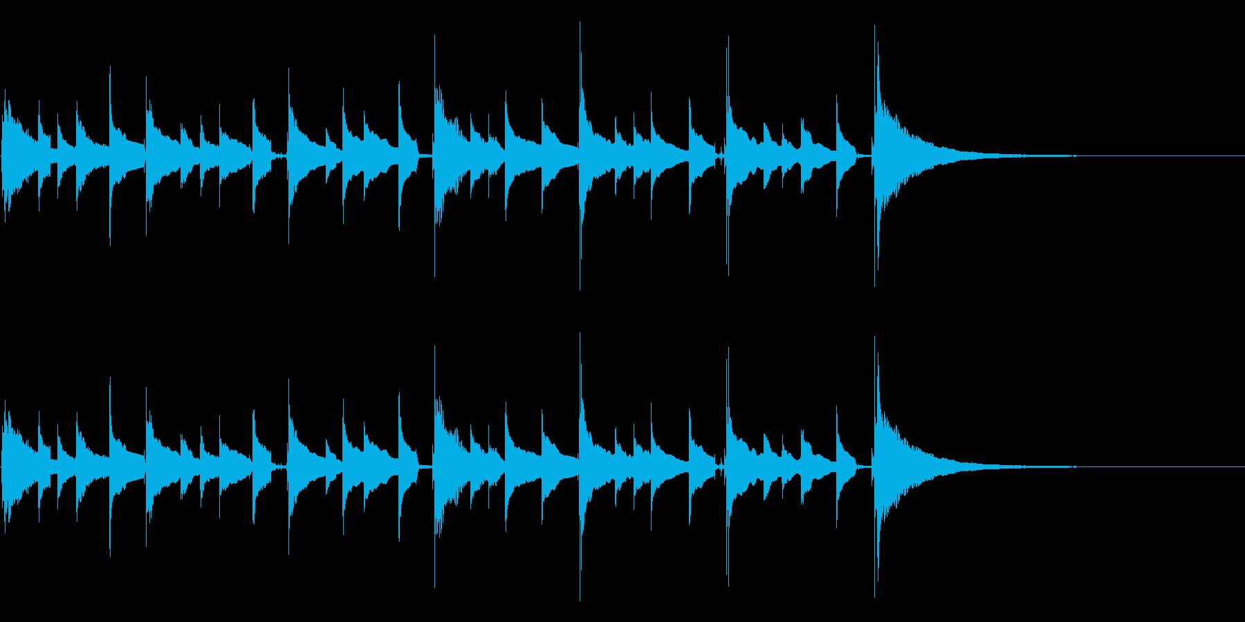 場面展開に最適、短い生ウクレレアルペジオの再生済みの波形