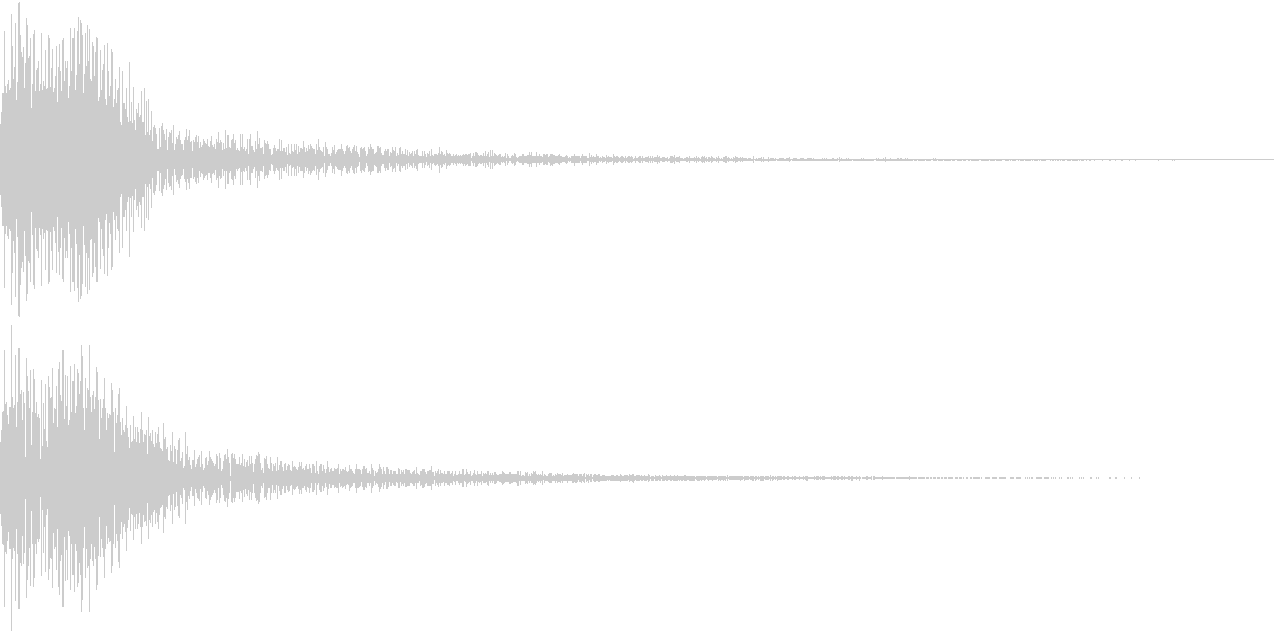 Moog ファットなコマンド音 5の未再生の波形