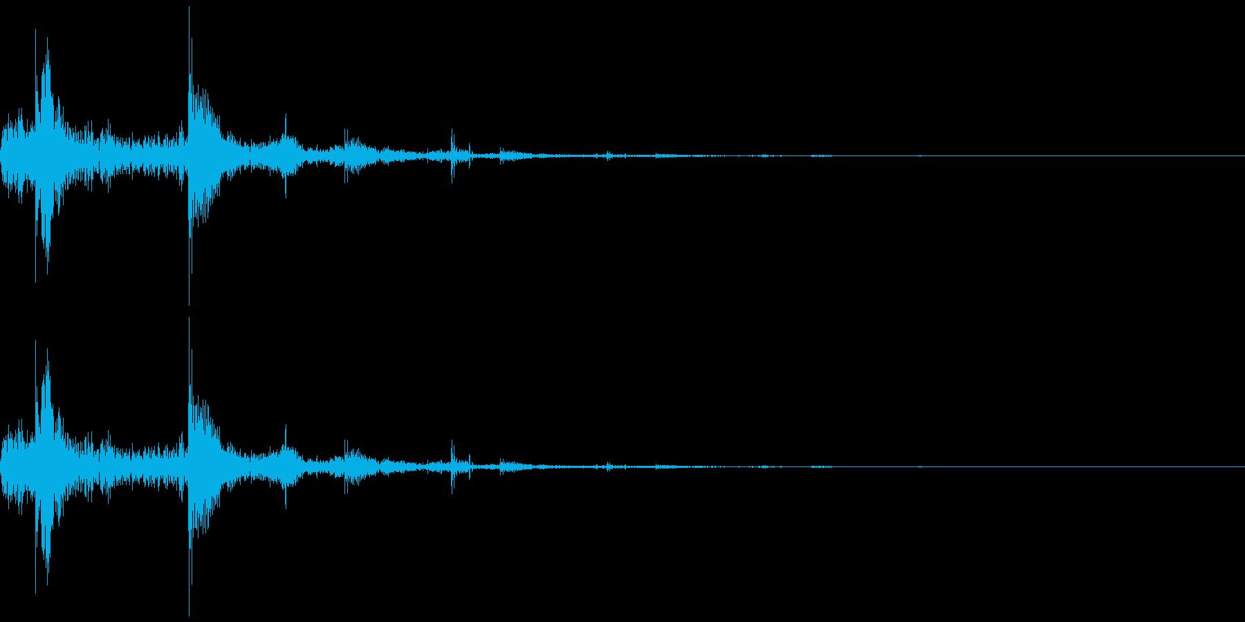 水滴が落ちるイメージの再生済みの波形