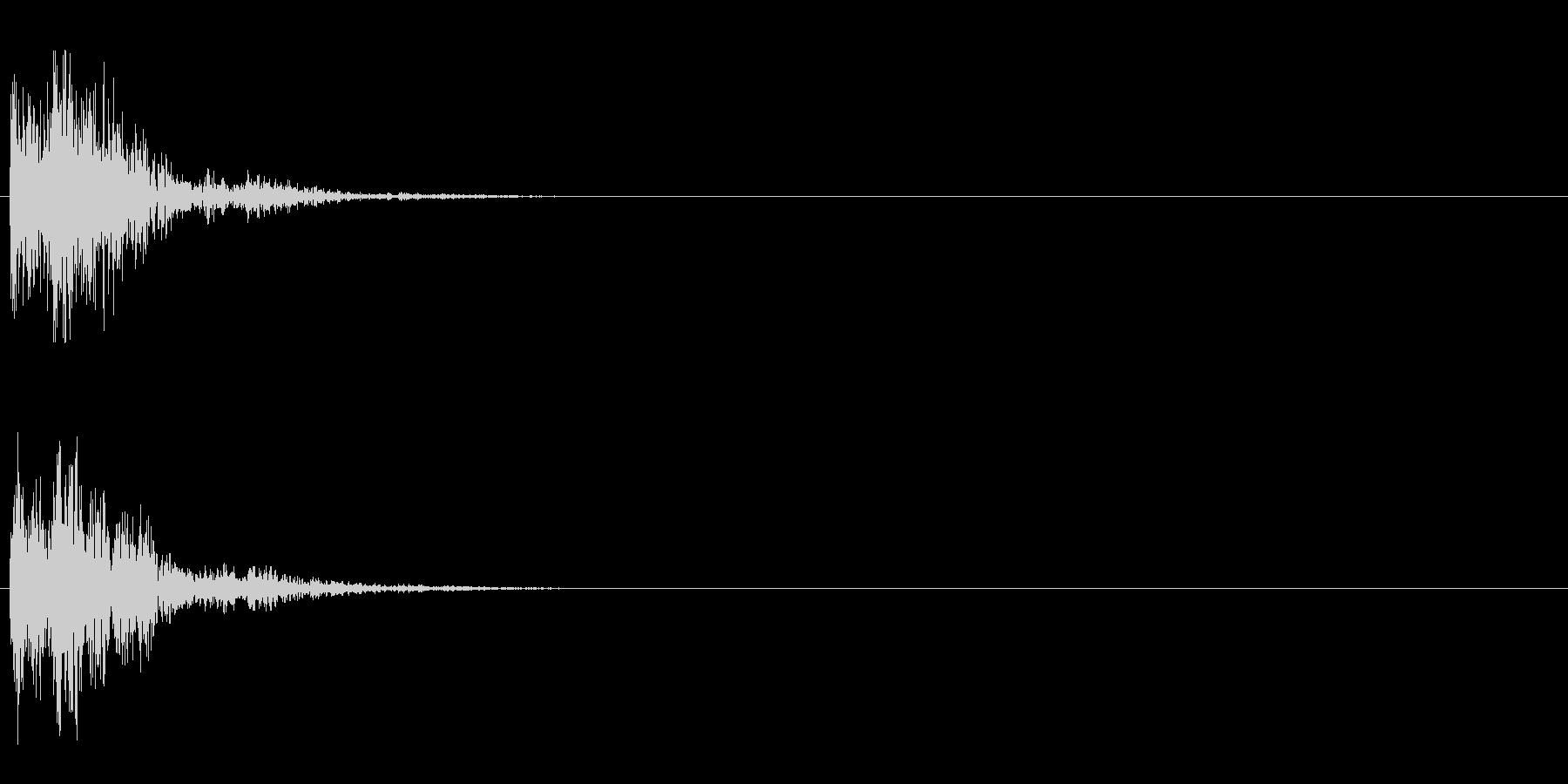 ピコン (ボタンプッシュ音)の未再生の波形