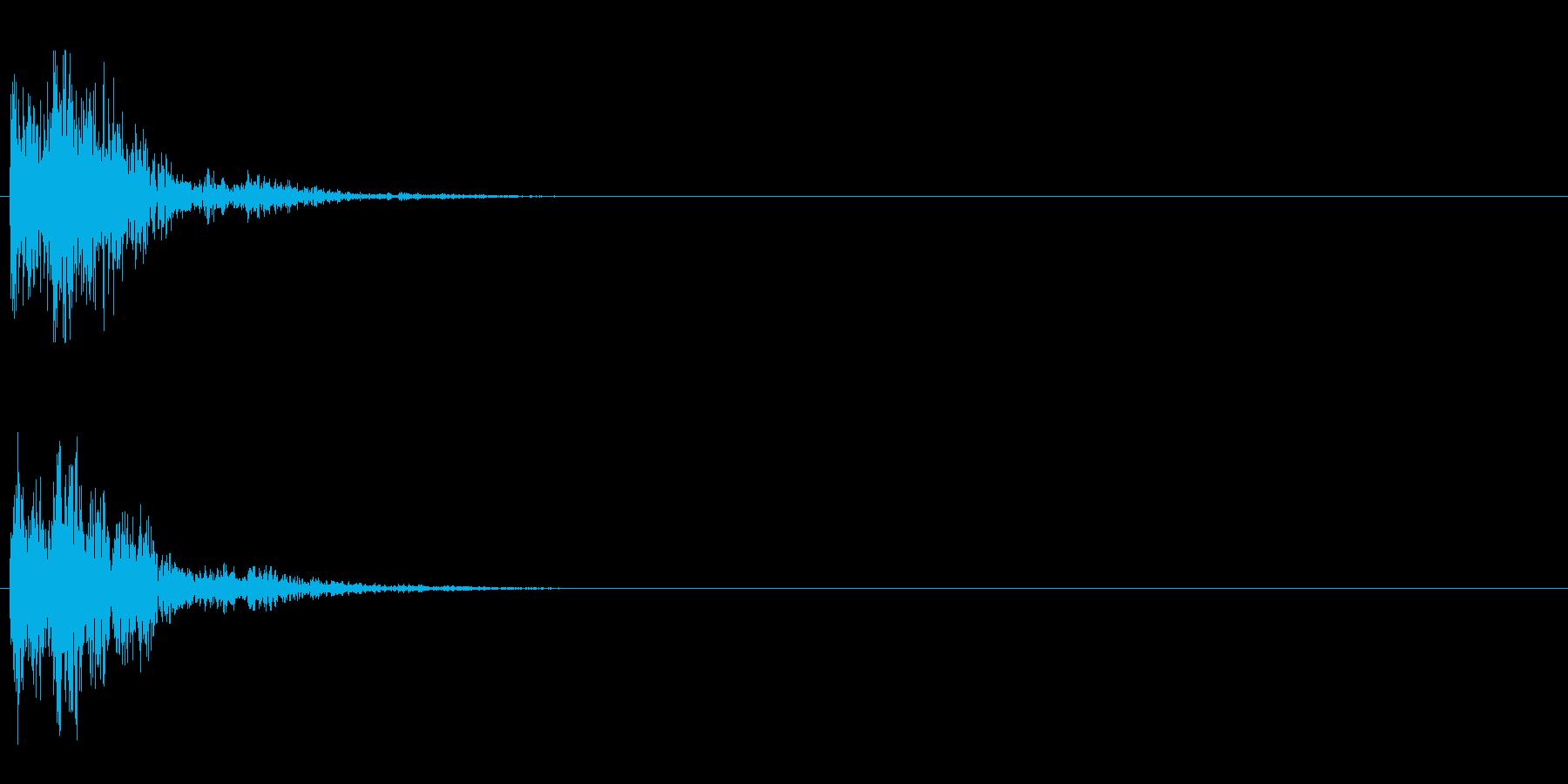 ピコン (ボタンプッシュ音)の再生済みの波形