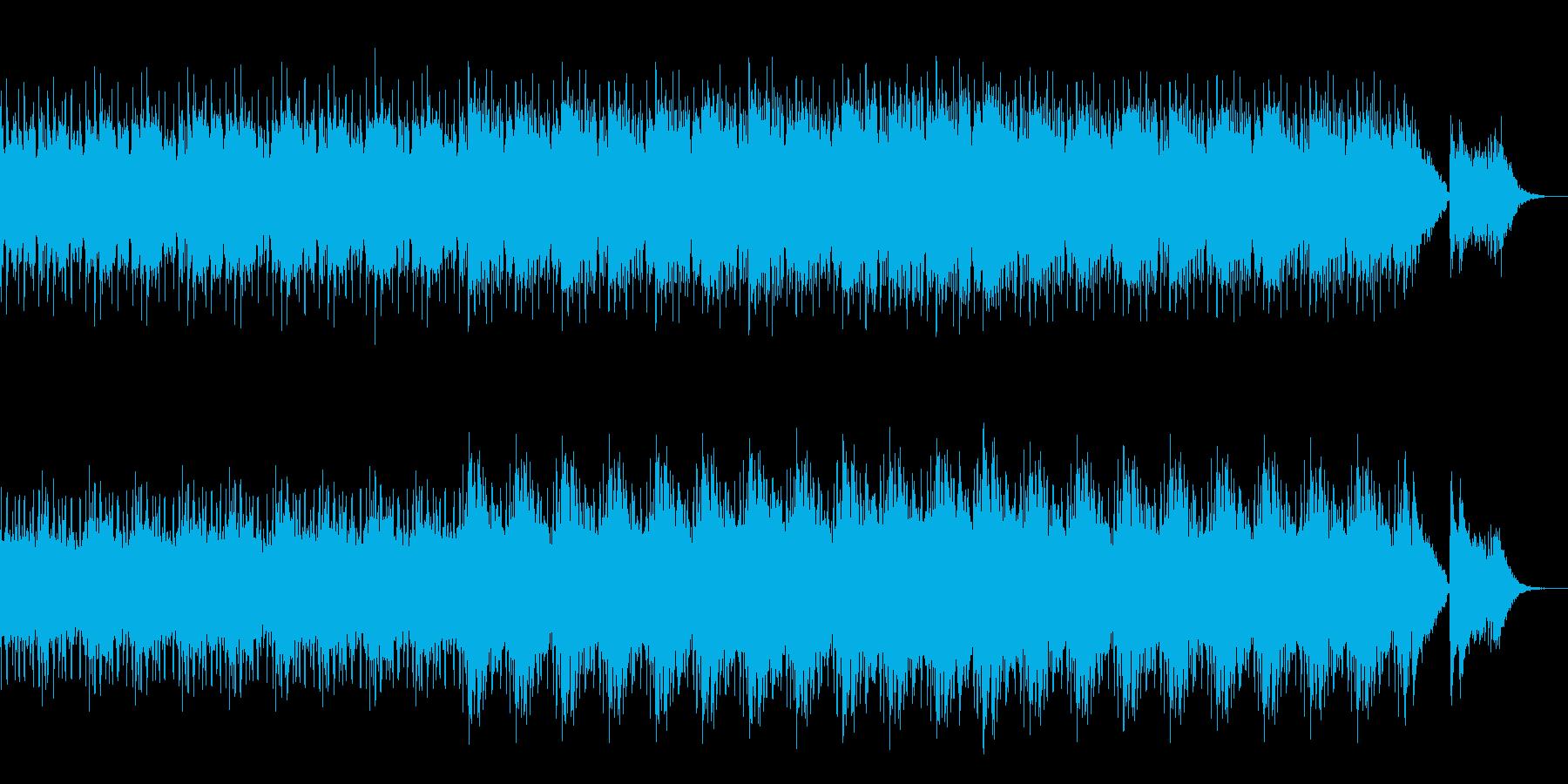 暗く、重い感じながらも疾走感のある曲の再生済みの波形