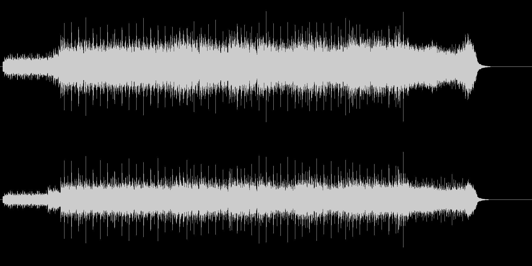 メロディーが映えるテクノ・ポップの未再生の波形
