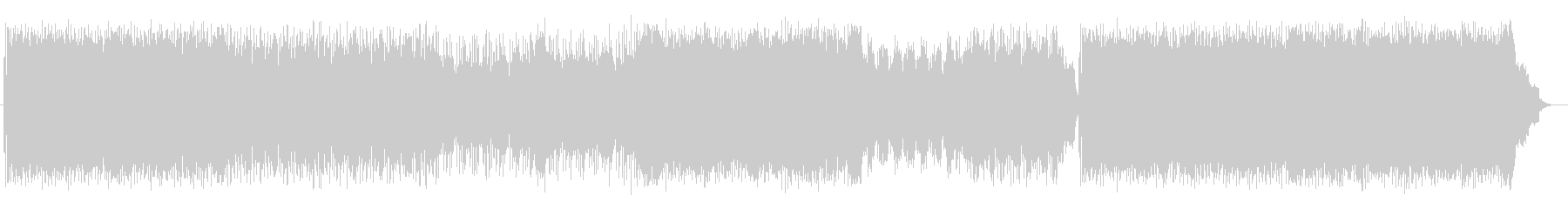 走り抜けるようなドラムが特徴のロックの未再生の波形