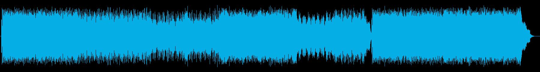 走り抜けるようなドラムが特徴のロックの再生済みの波形