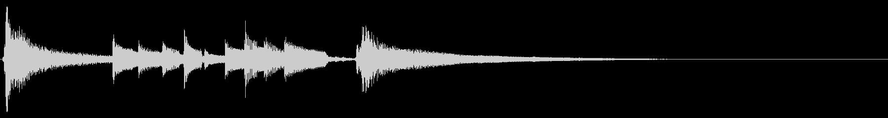 アコギ生音のジングル/おしゃれ4の未再生の波形